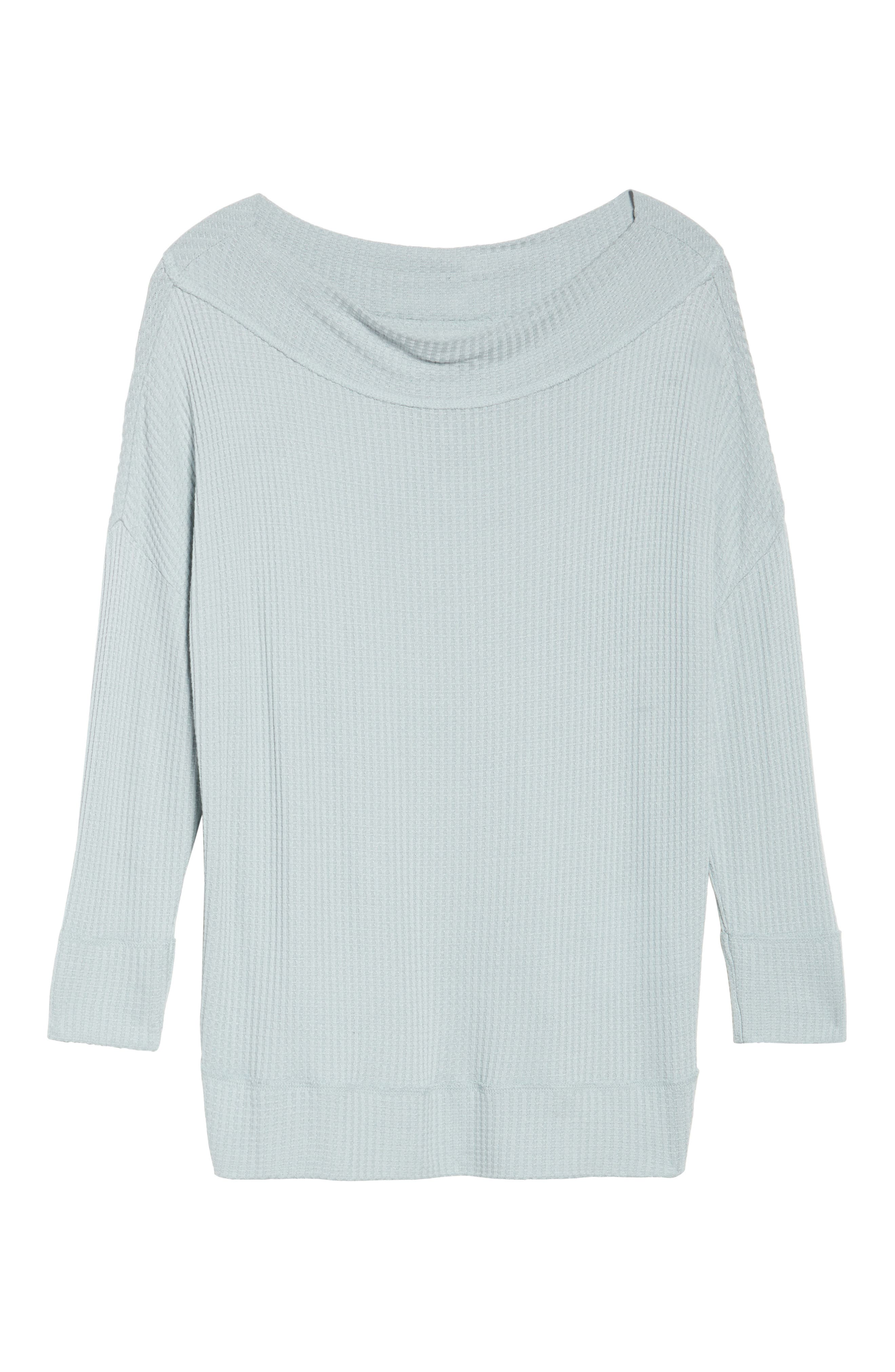 Alternate Image 6  - Lucky Brand Waffle Thermal Top (Plus Size)