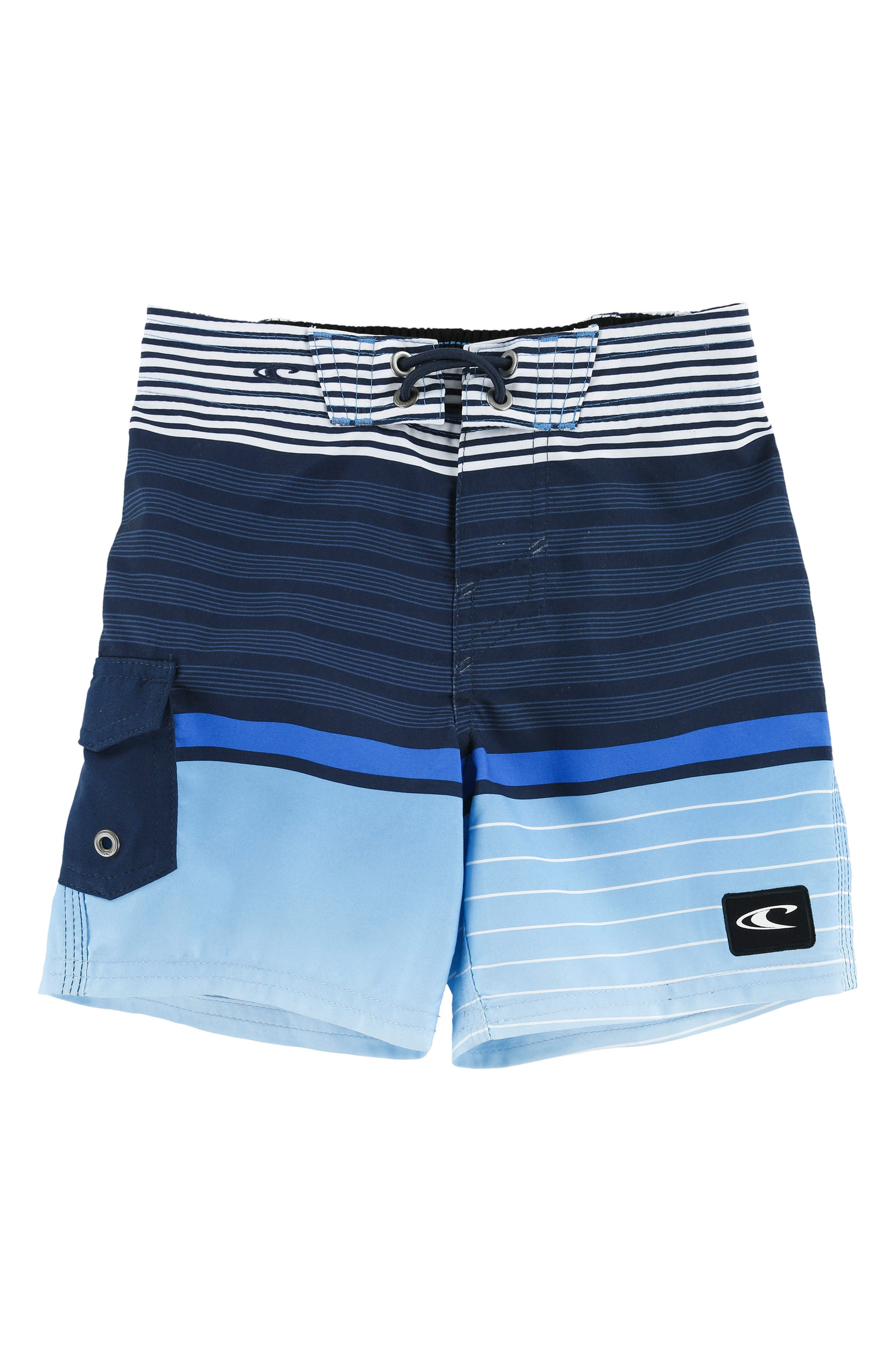 Lennox Stripe Board Shorts,                             Main thumbnail 1, color,                             Blue