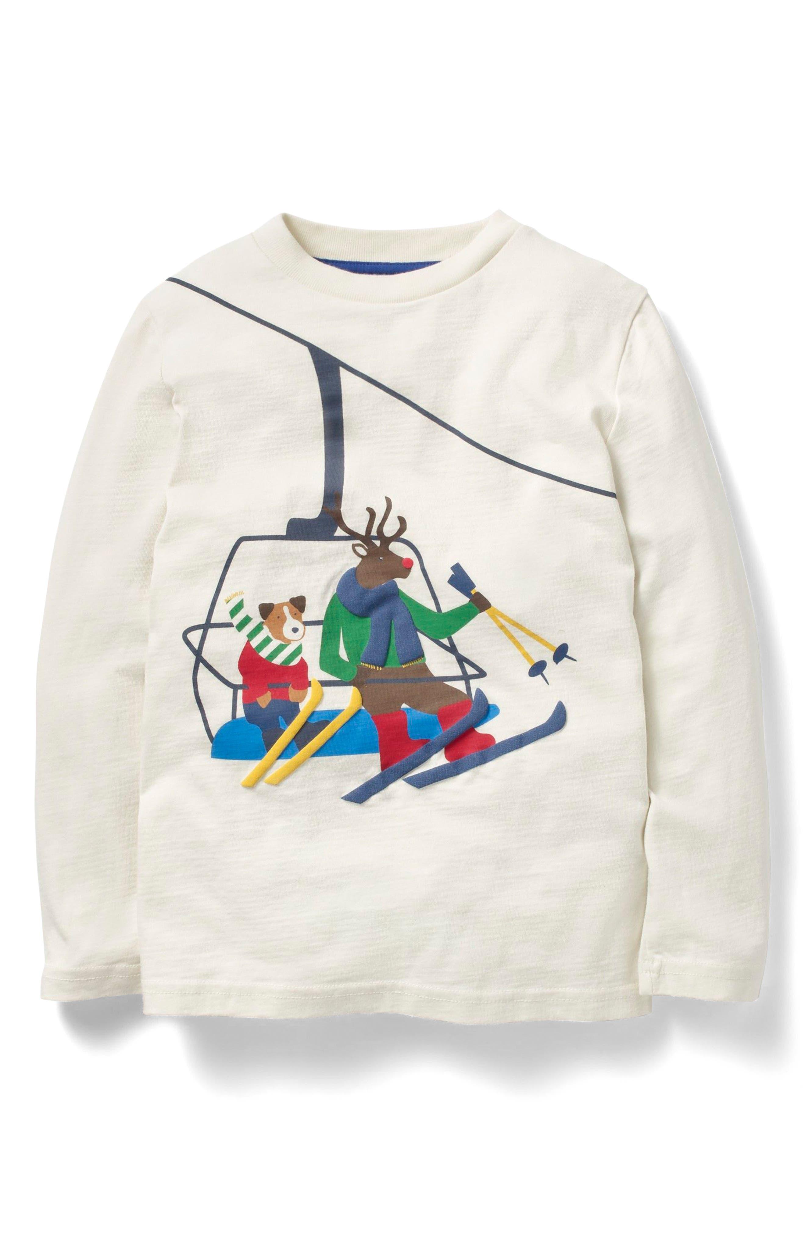 Mini Boden Festive Vehicle T-Shirt (Toddler Boys, Little Boys & Big Boys)