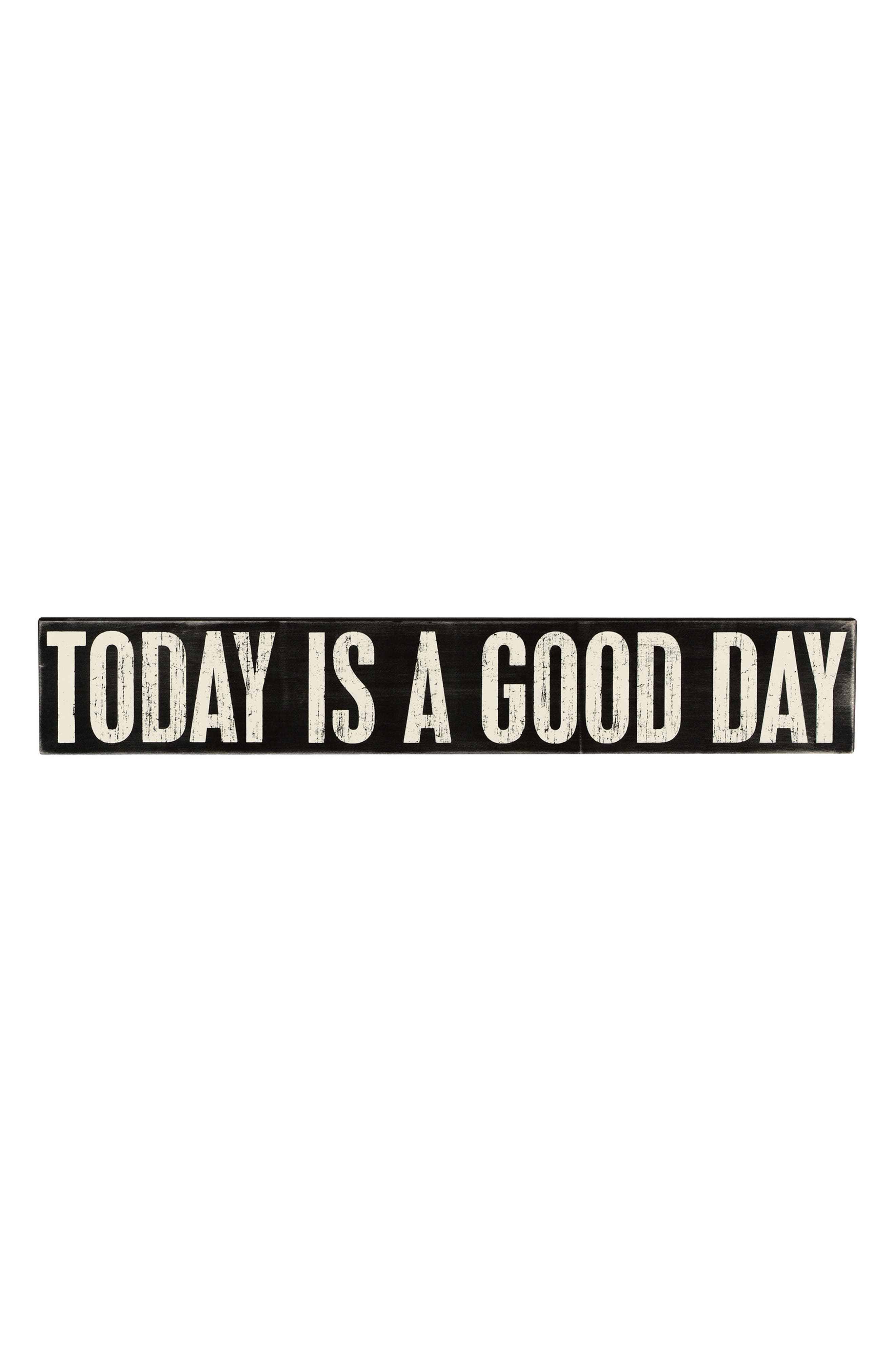 Today Is a Good Day Box Sign,                             Main thumbnail 1, color,                             Black