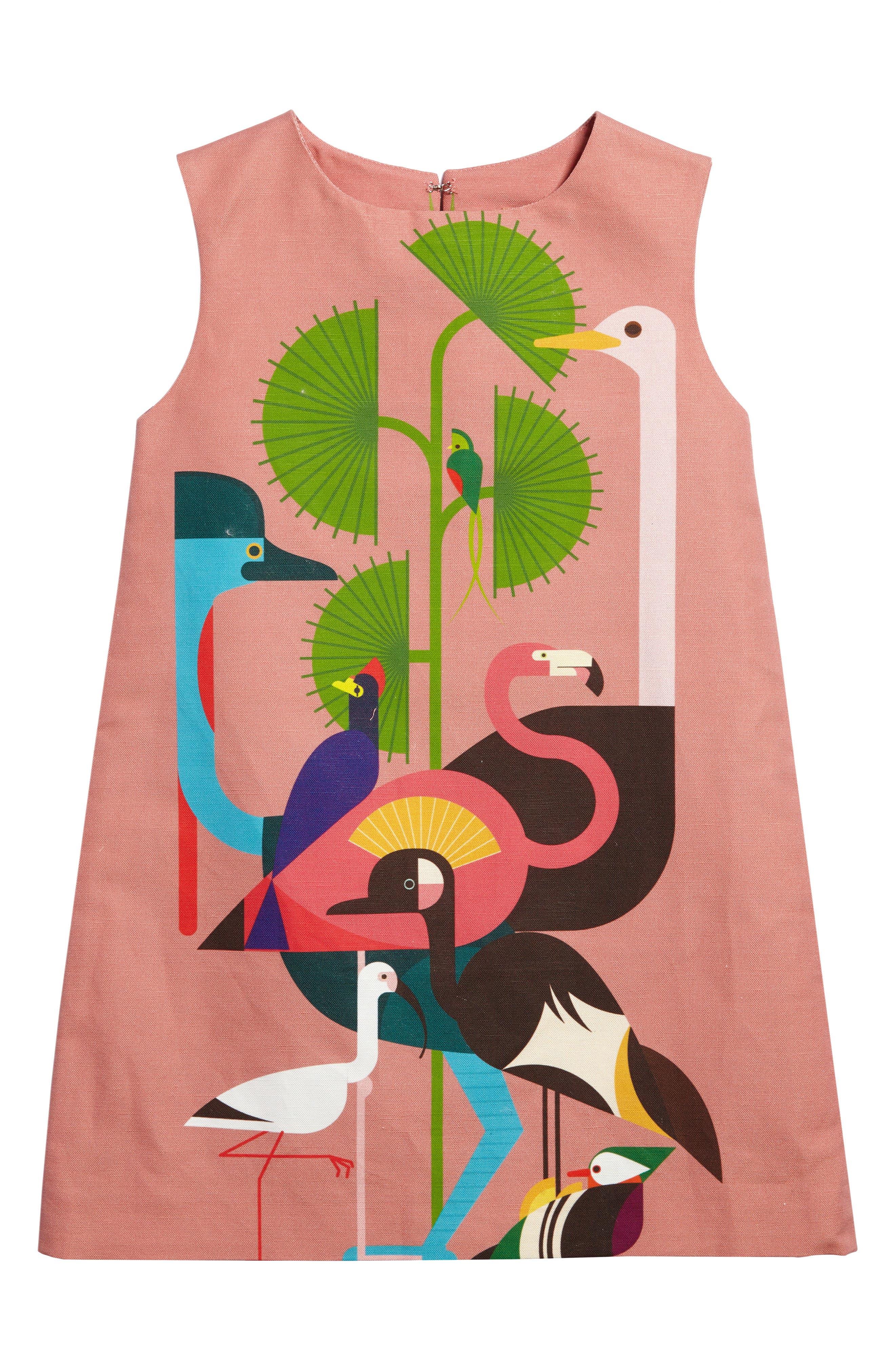 Alternate Image 1 Selected - Kid Made Modern Rose Bird Shift Dress (Little Girls & Big Girls)