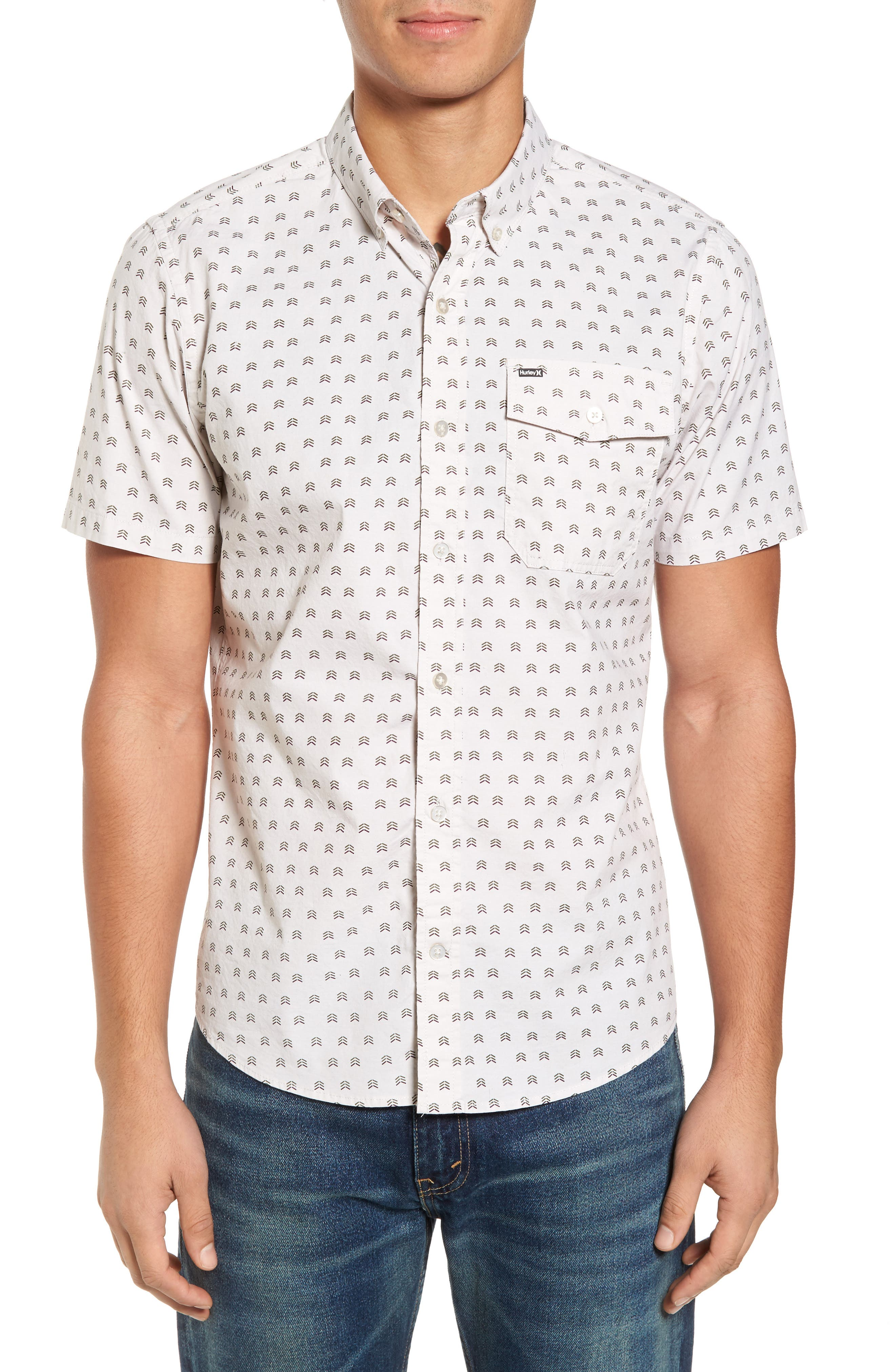 Brooks Woven Shirt,                             Main thumbnail 1, color,                             Light Orewood Brown