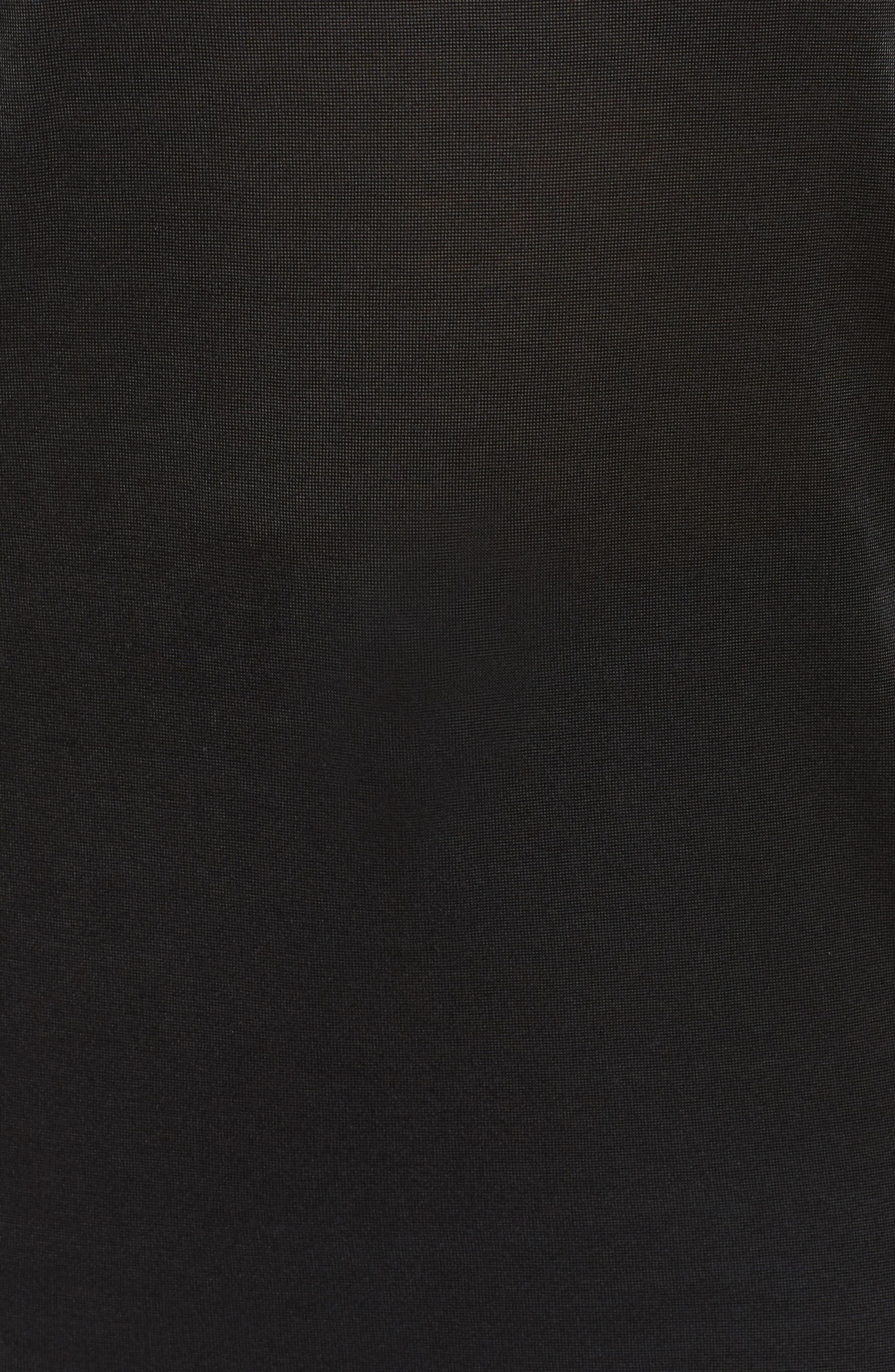 Slit Sleeve Top,                             Alternate thumbnail 6, color,                             Black