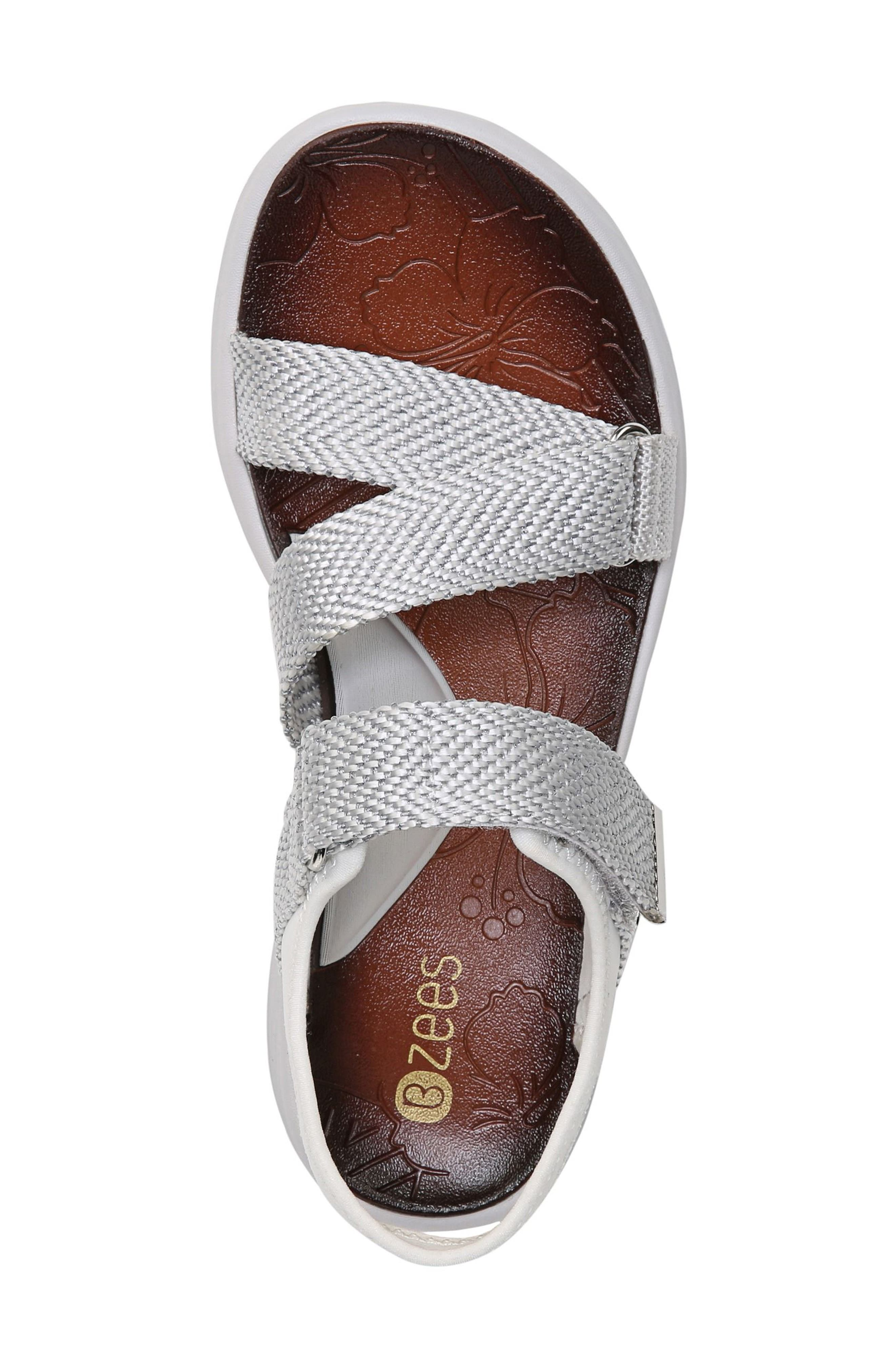 Jive Sandal,                             Alternate thumbnail 6, color,                             White Fabric