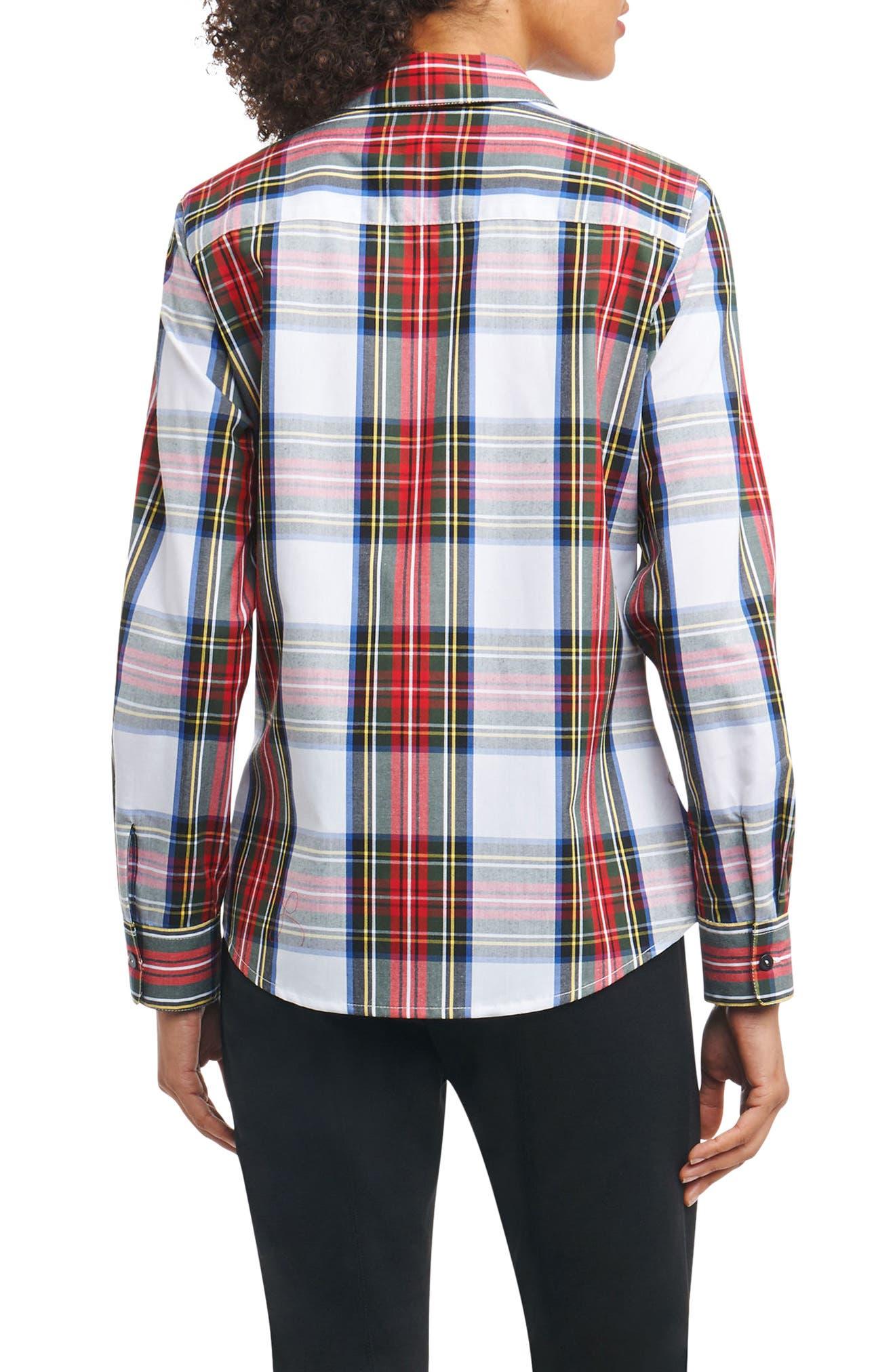Tina in Stewart Tartan Shirt,                             Alternate thumbnail 2, color,                             White Multi