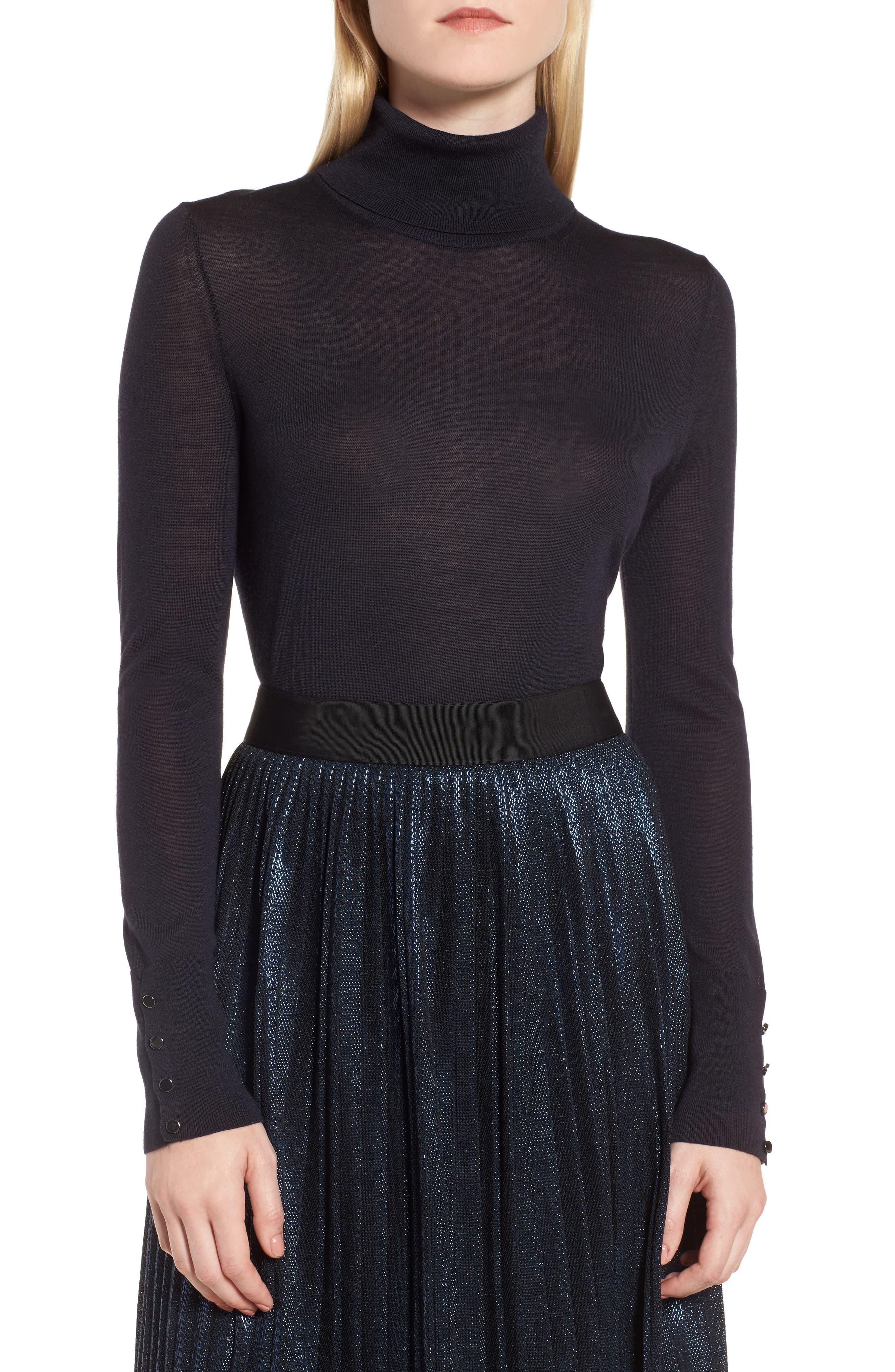 Main Image - BOSS Farrella Wool Turtleneck Sweater