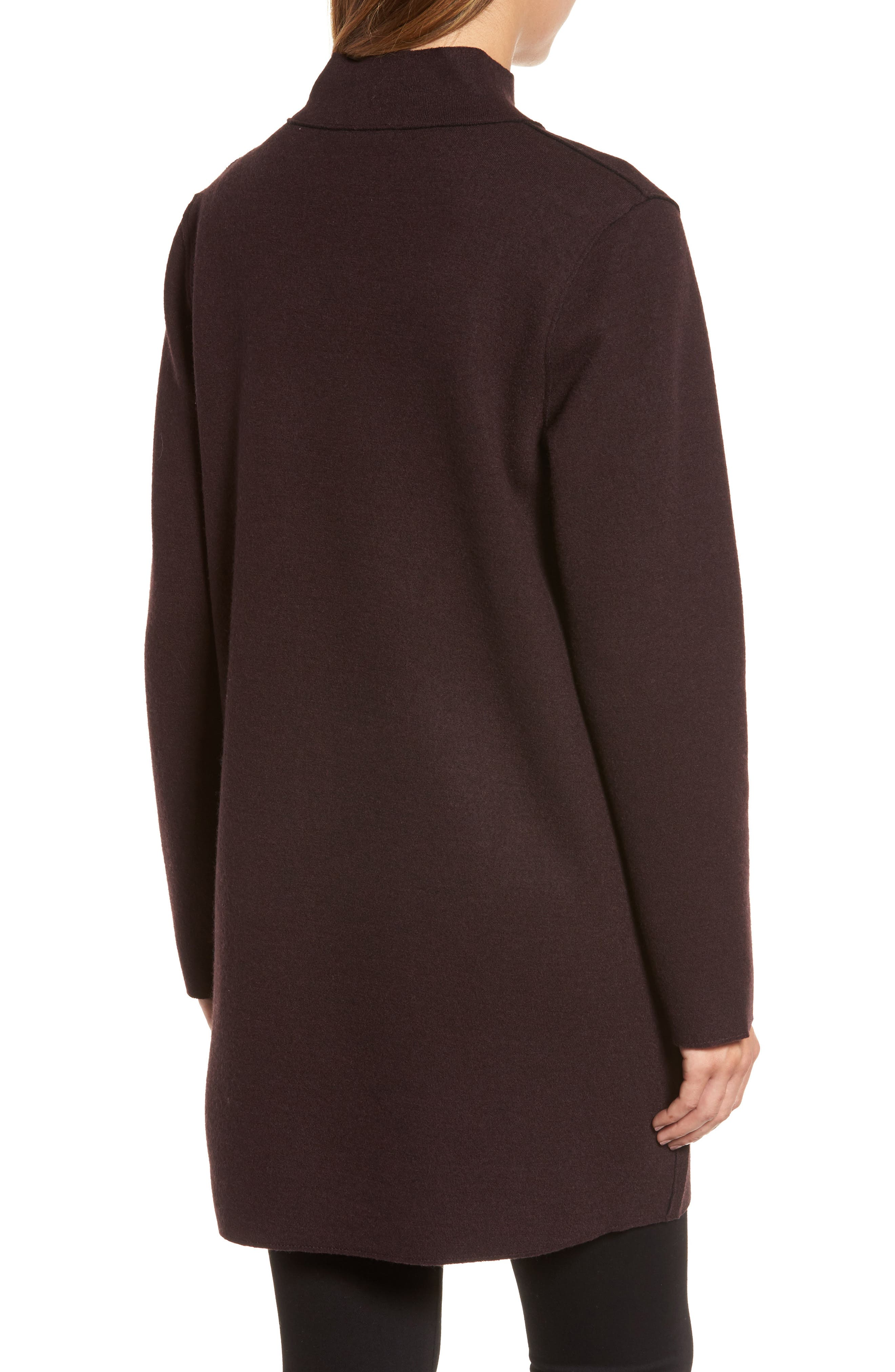 Alternate Image 2  - Eileen Fisher Notch Collar Merino Wool Topper (Regular & Petite)