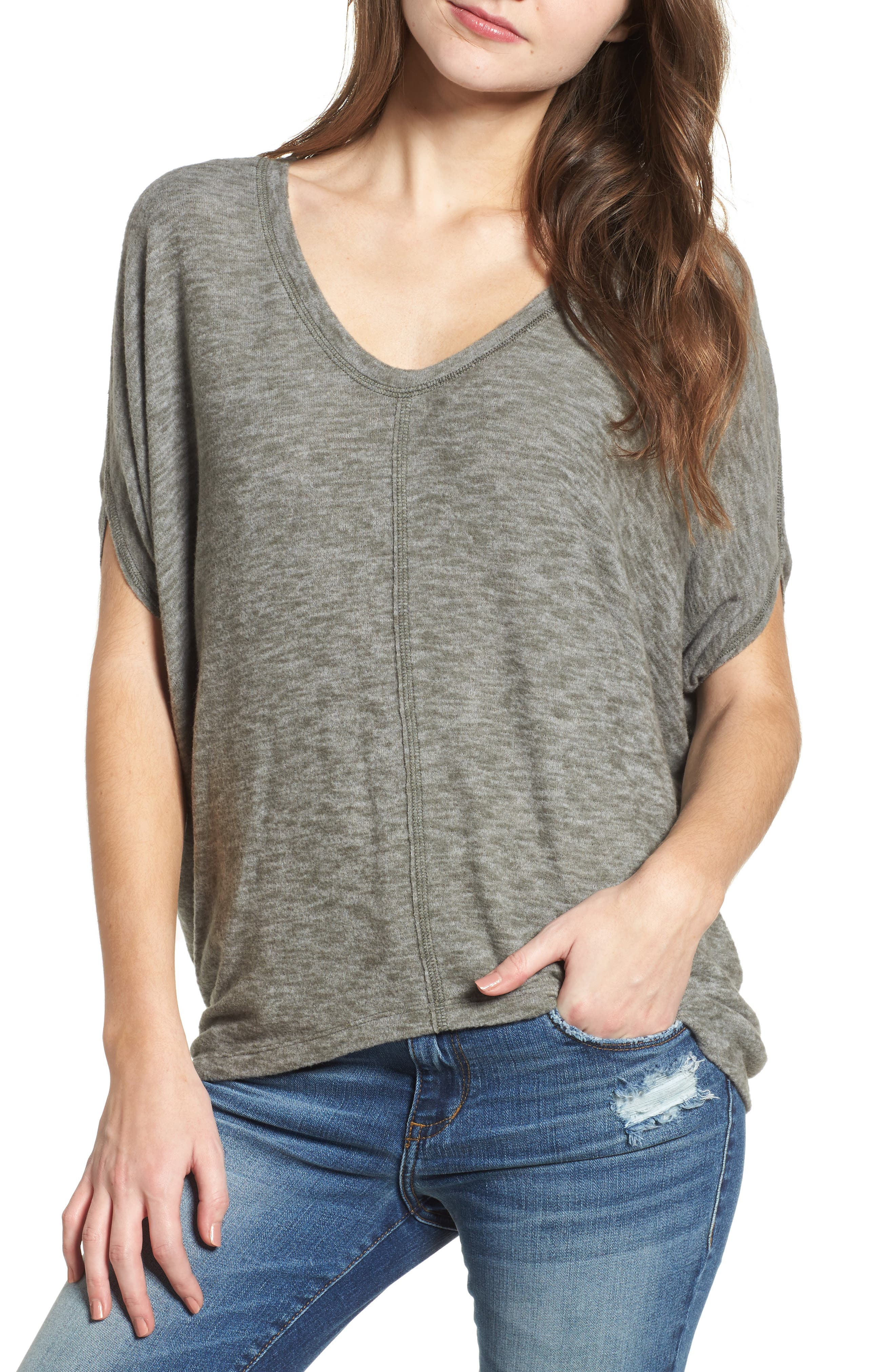 Cocoon Top,                         Main,                         color, Olive Green
