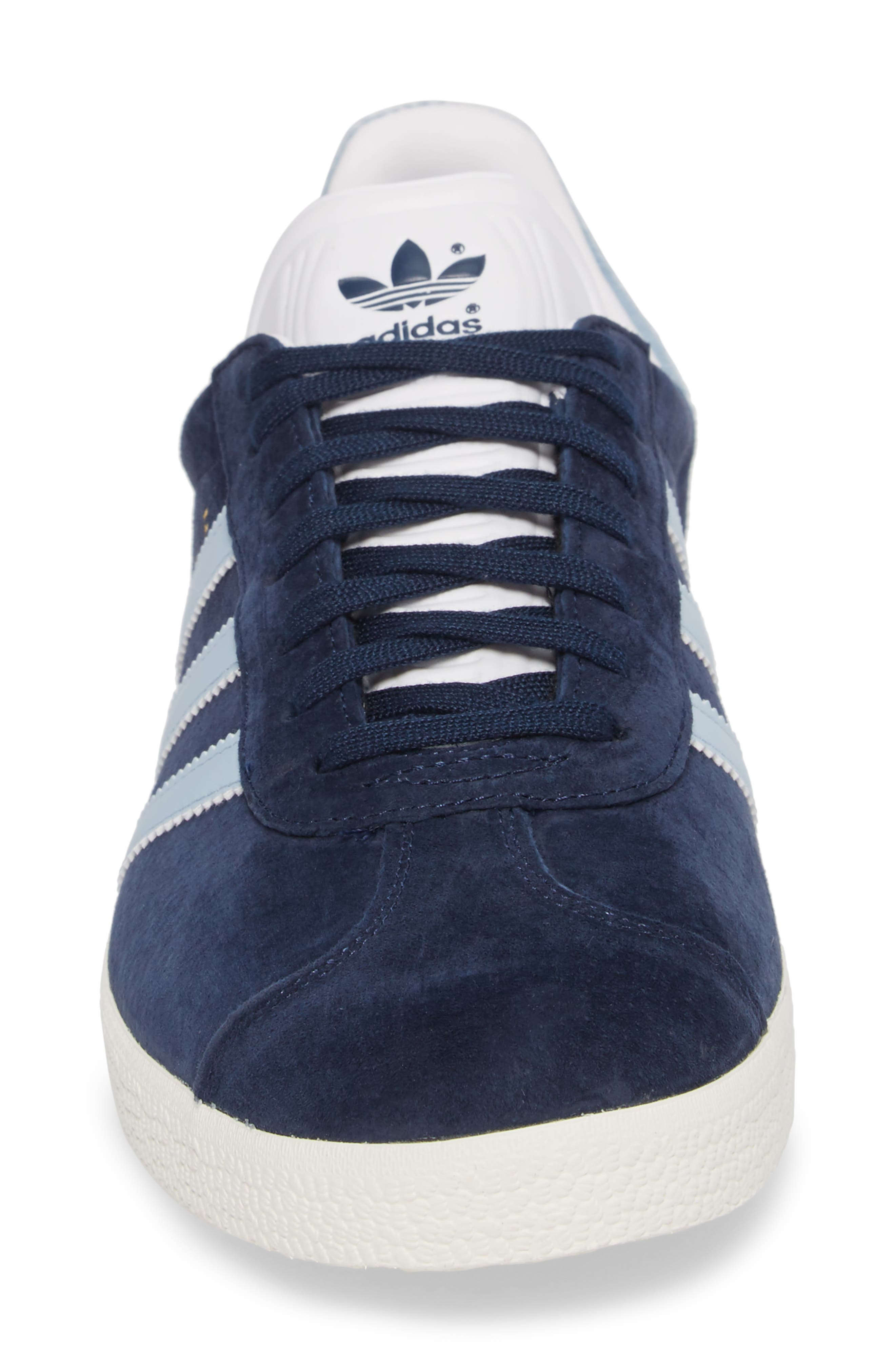 Gazelle Sneaker,                             Alternate thumbnail 4, color,                             Navy/ Easy Blue/ White