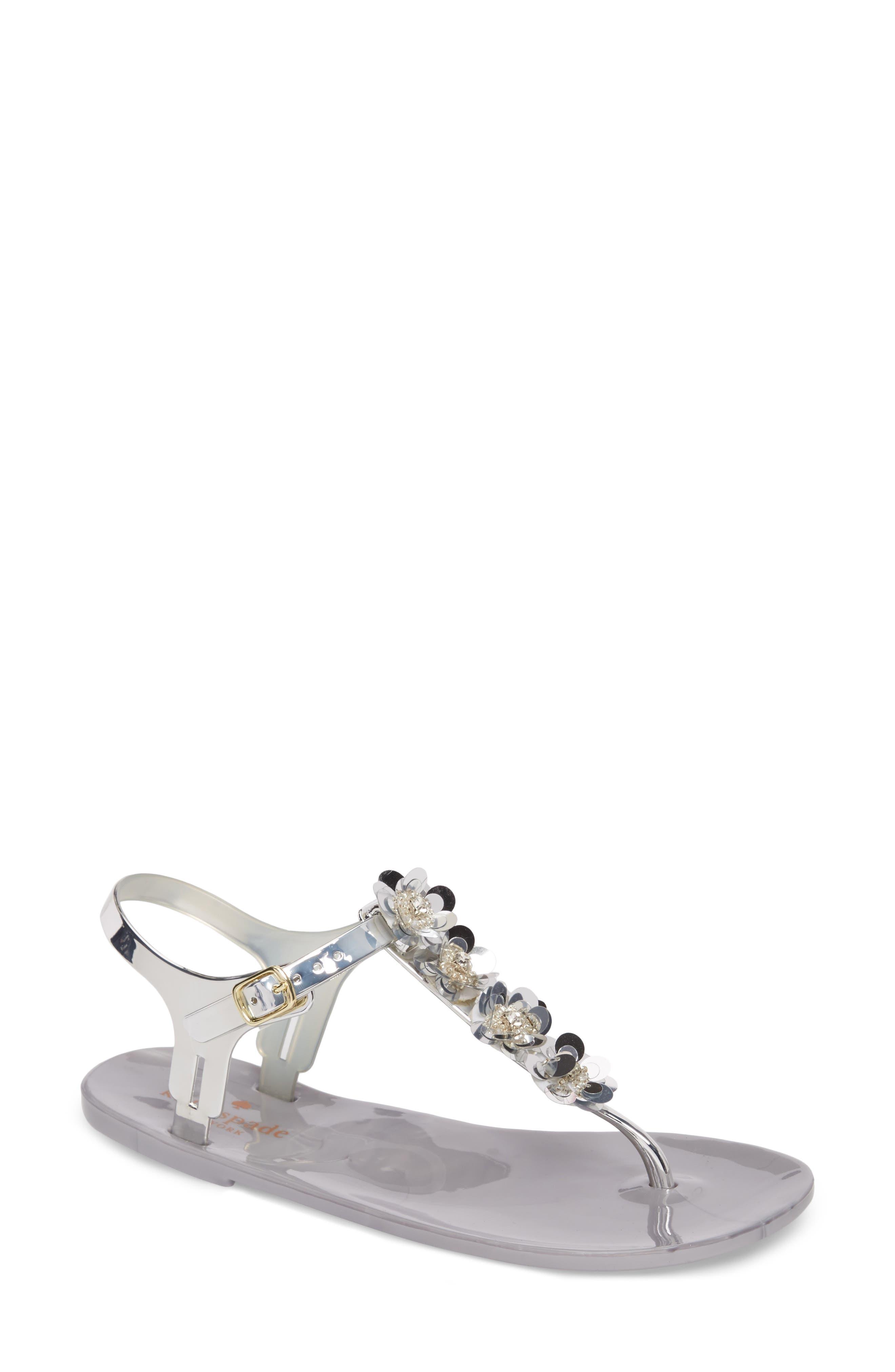 farrah thong sandal,                             Main thumbnail 1, color,                             Silver