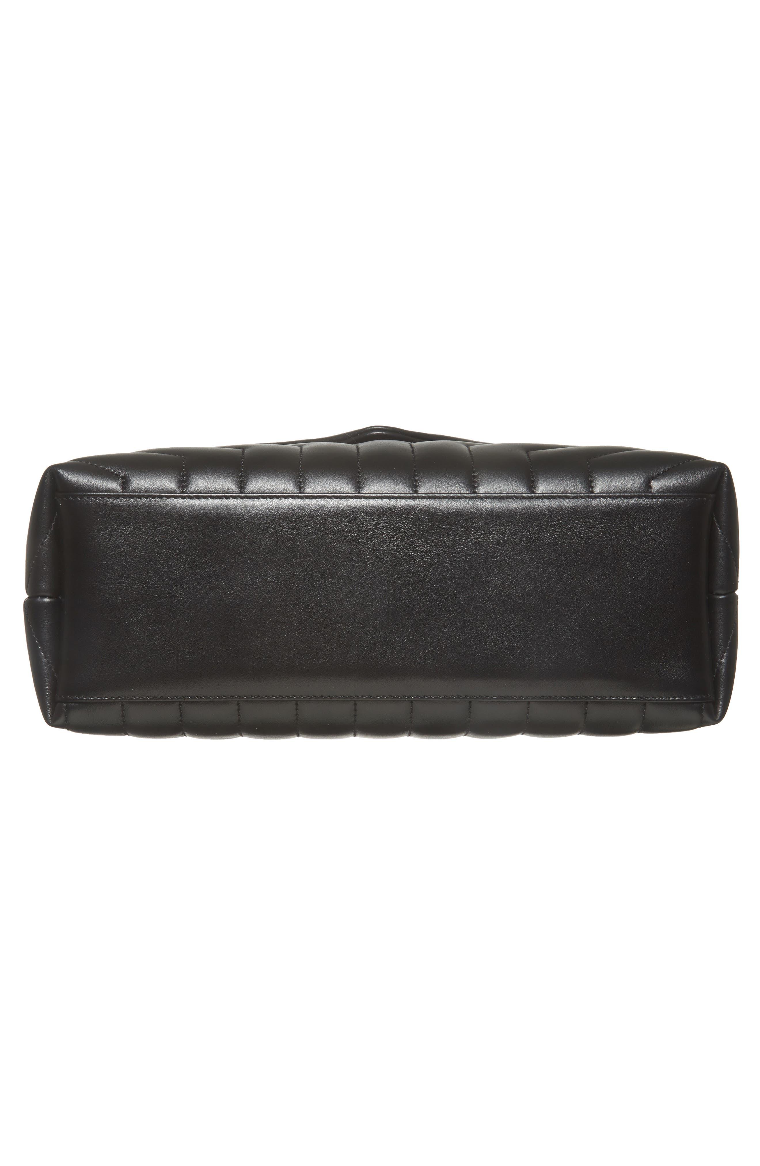 Medium Loulou Matelassé Leather Shoulder Bag,                             Alternate thumbnail 6, color,                             Noir