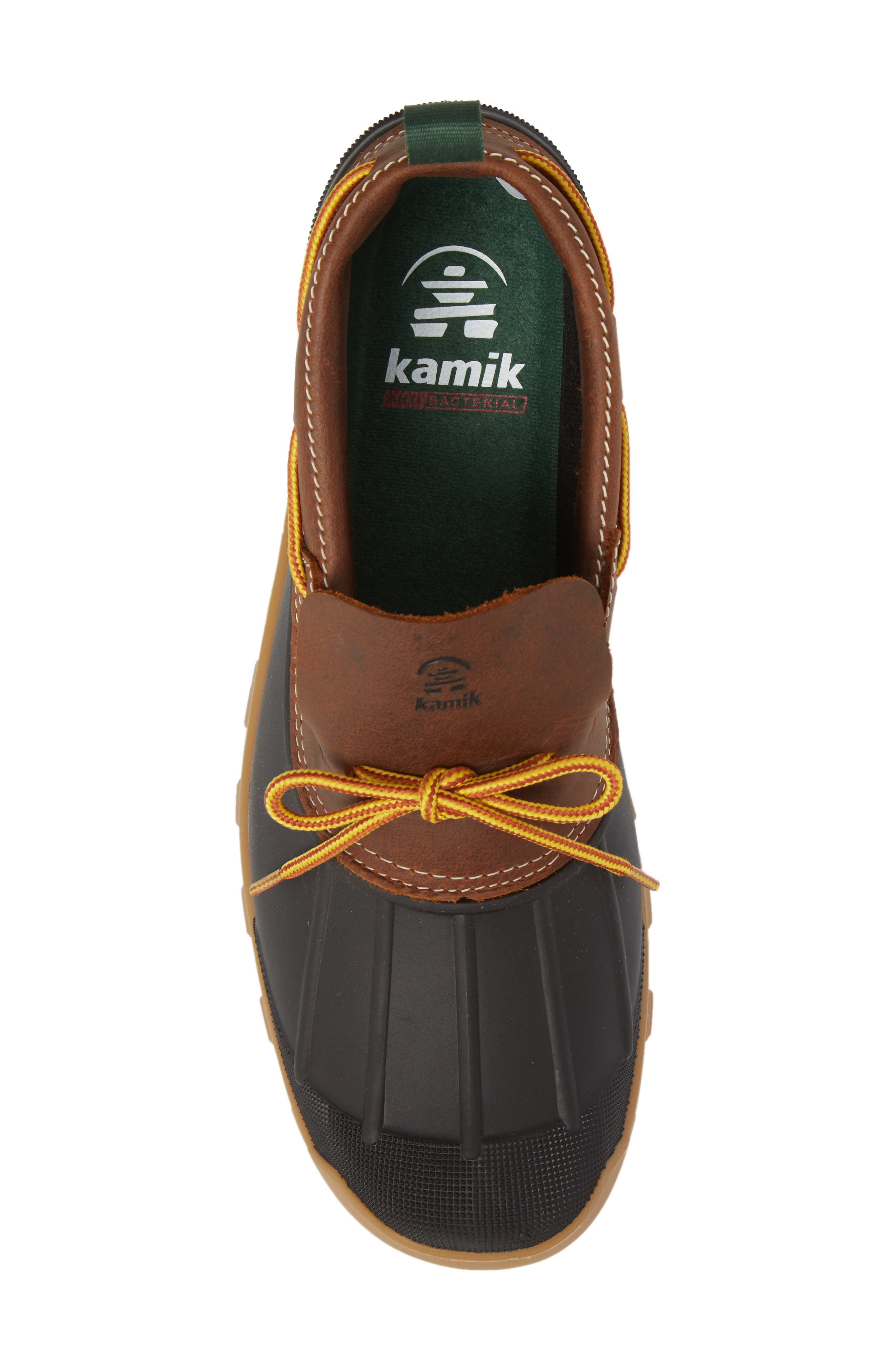 Yukon Short Boot,                             Alternate thumbnail 5, color,                             Dark Brown Leather