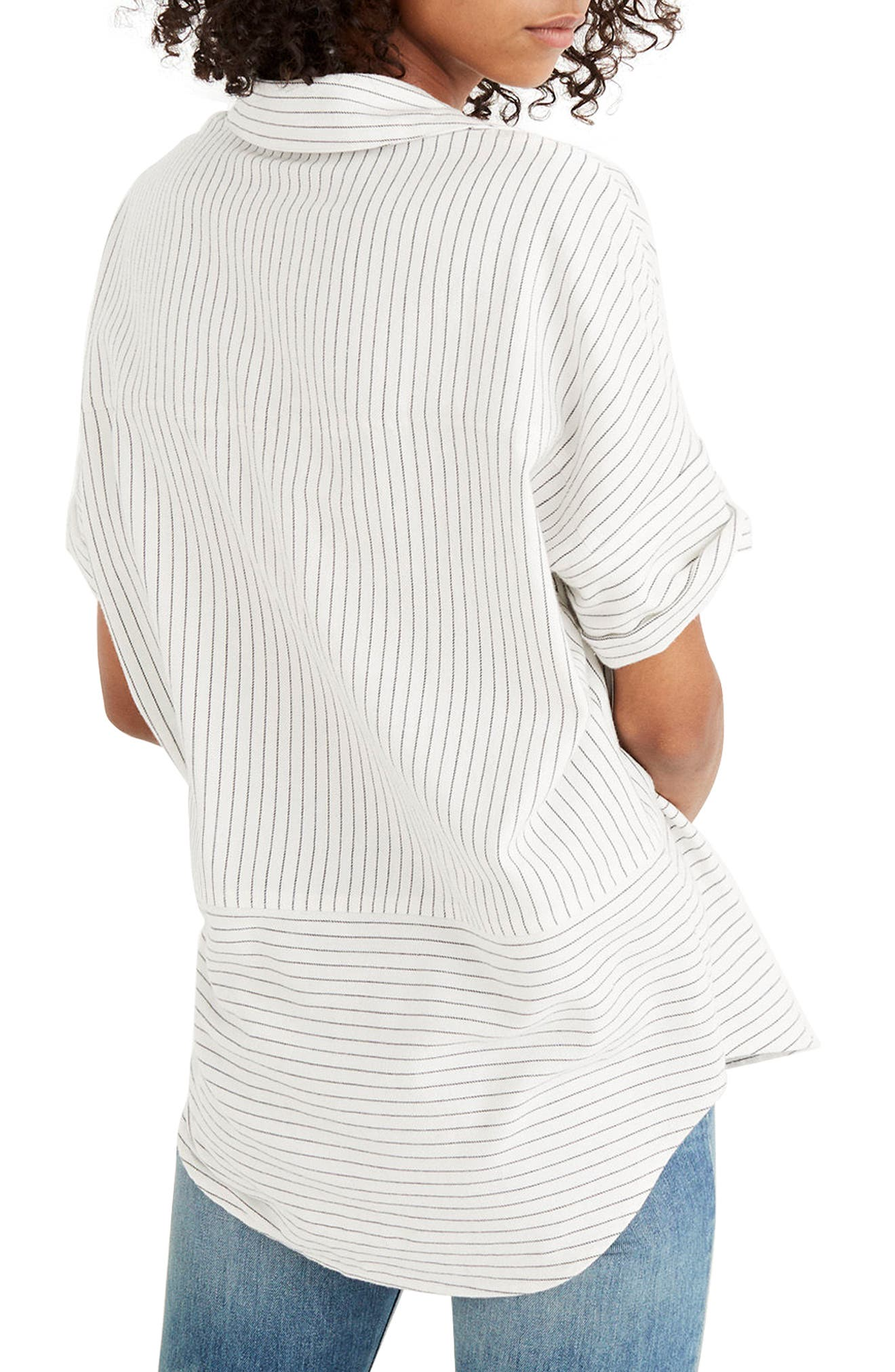 Flannel Courier Shirt,                             Alternate thumbnail 2, color,                             Bright Ivory Jones Stripe