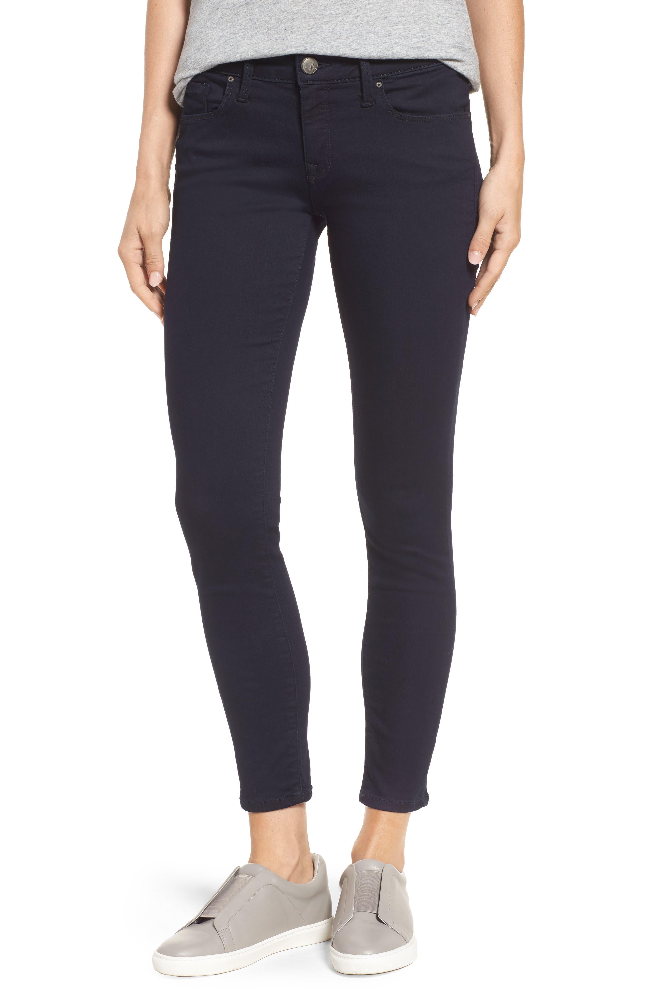 Main Image - Mavi Jeans 'Alexa' Midrise Skinny Jeans (Dark Shanty)