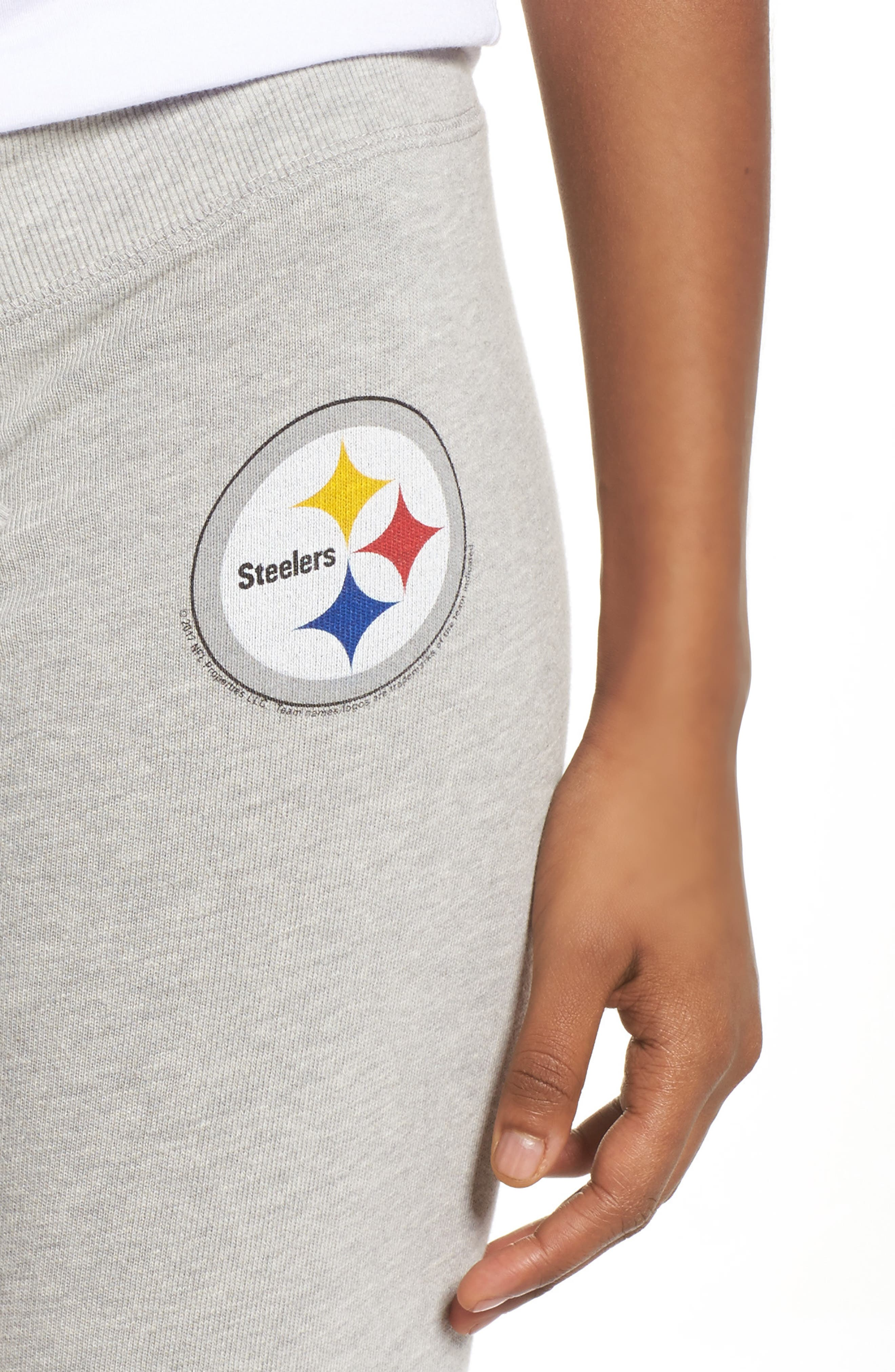 NFL Pittsburgh Steelers Hacci Sweatpants,                             Alternate thumbnail 4, color,                             Dove Heather Grey