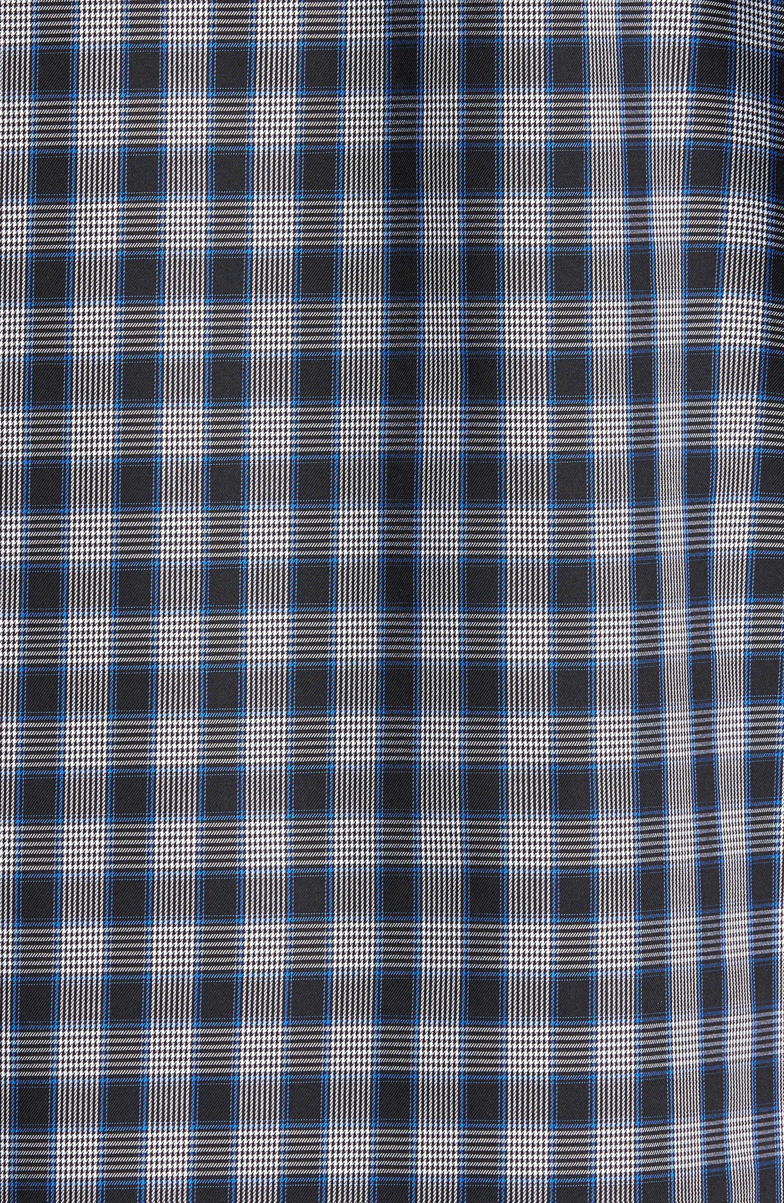 Classic Fit Check Sport Shirt,                             Alternate thumbnail 5, color,                             Midnight