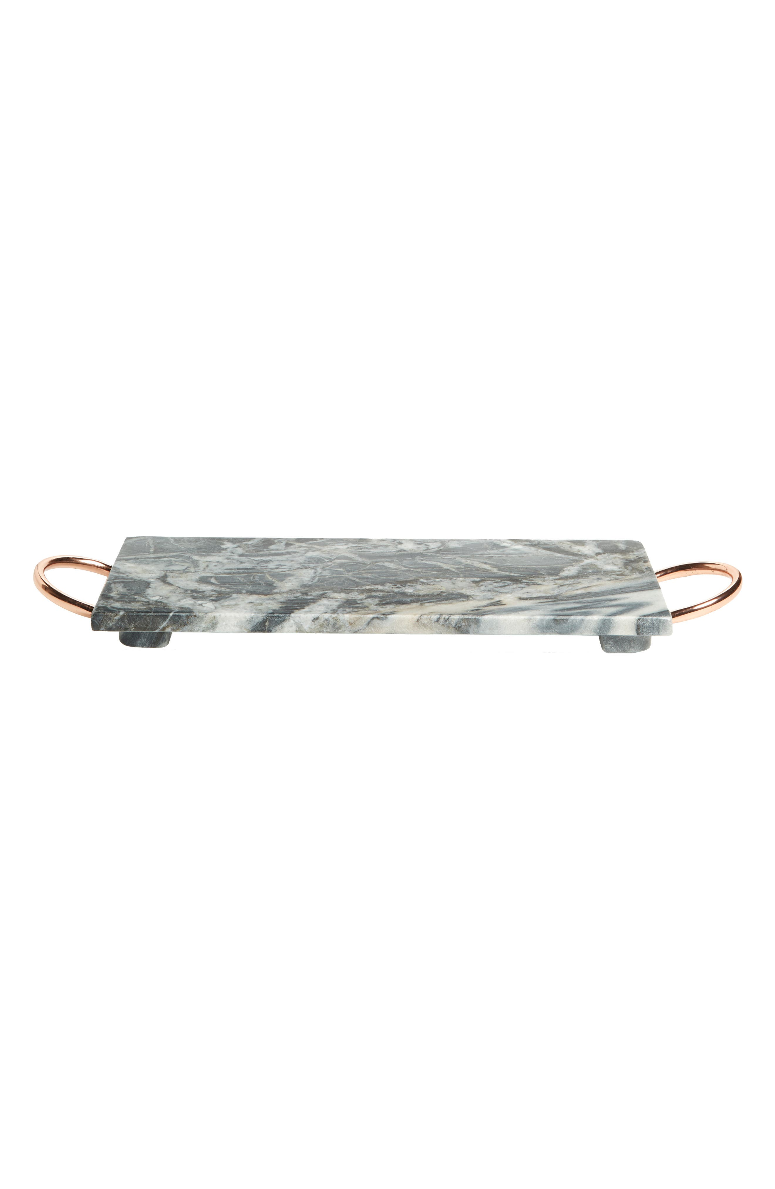 Marble Serving Tray,                             Main thumbnail 1, color,                             Black Multi