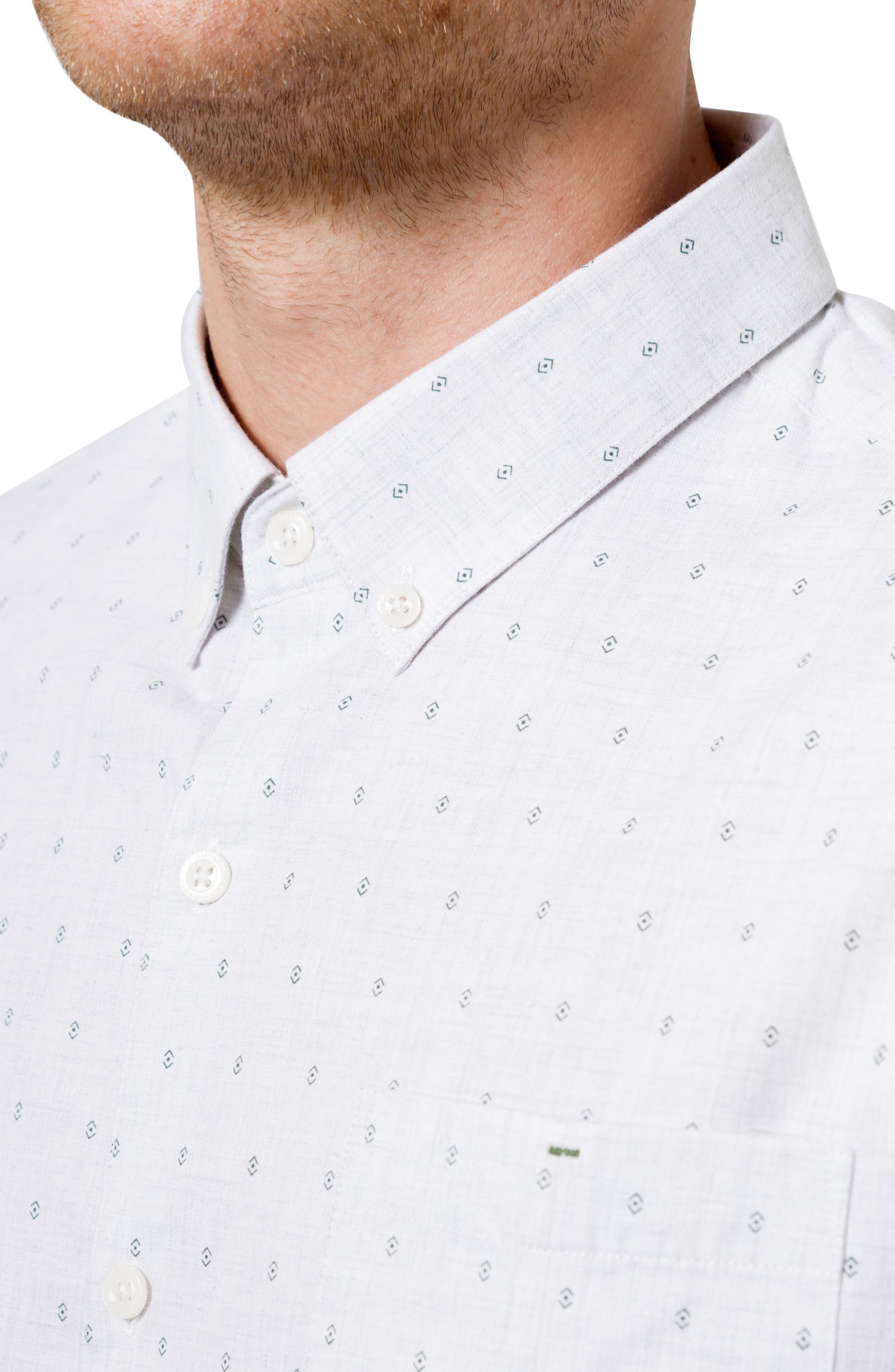 First Light Woven Shirt,                             Alternate thumbnail 4, color,                             Oat