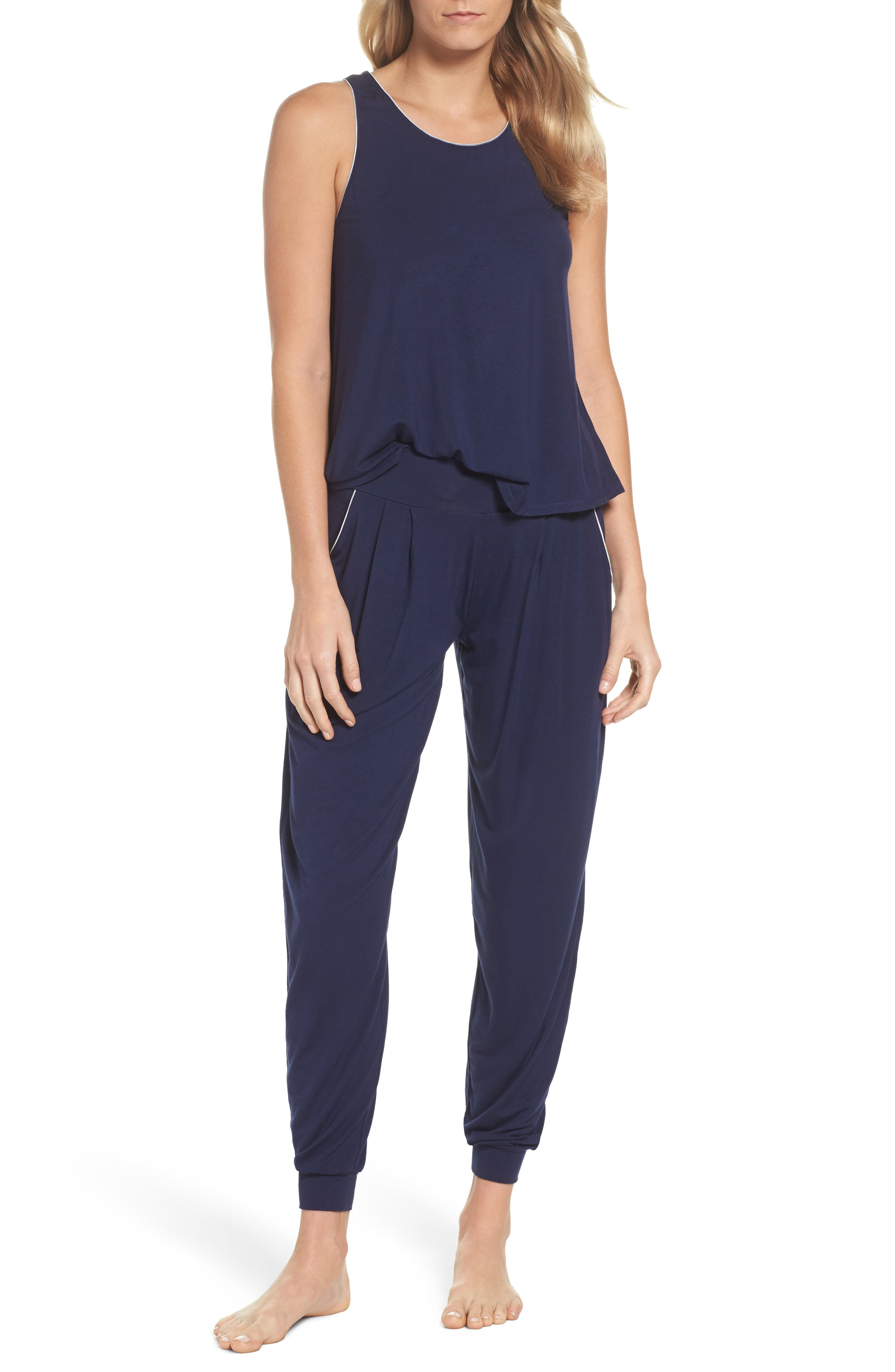 Tank Pajamas,                         Main,                         color, Peacoat