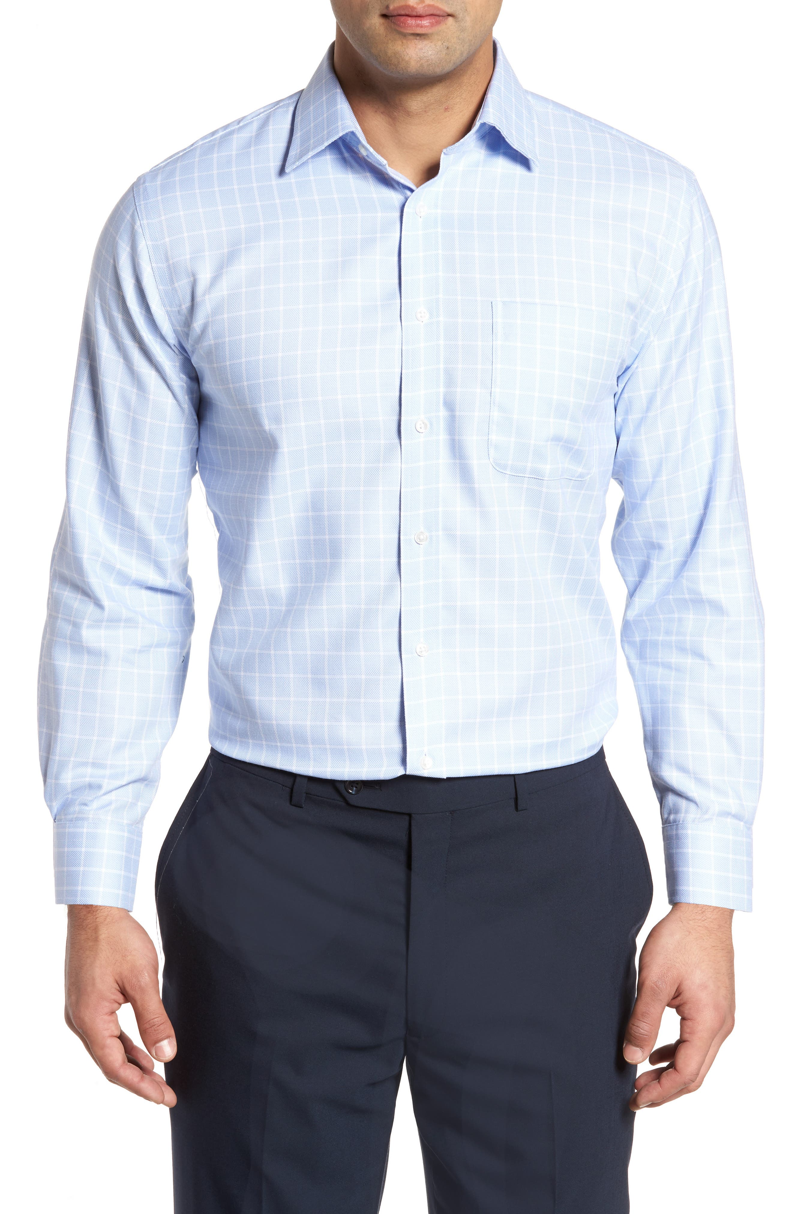 Alternate Image 1 Selected - Nordstrom Men's Shop Traditional Fit No-Iron Check Dress Shirt
