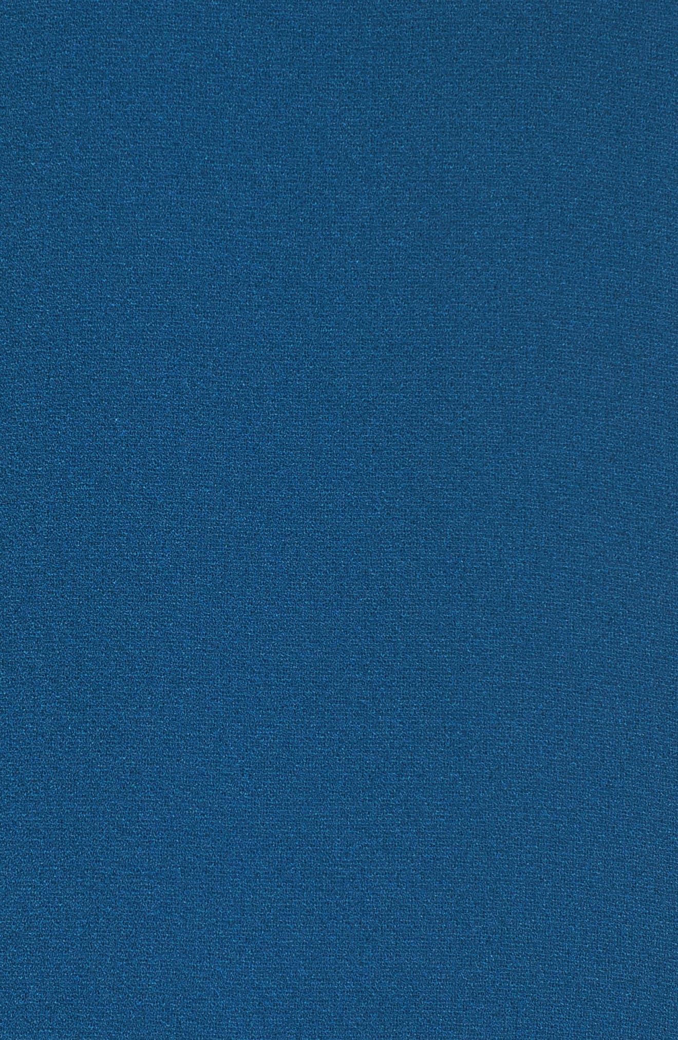 Asymmetrical Ruffle Shift Dress,                             Alternate thumbnail 5, color,                             Spruce