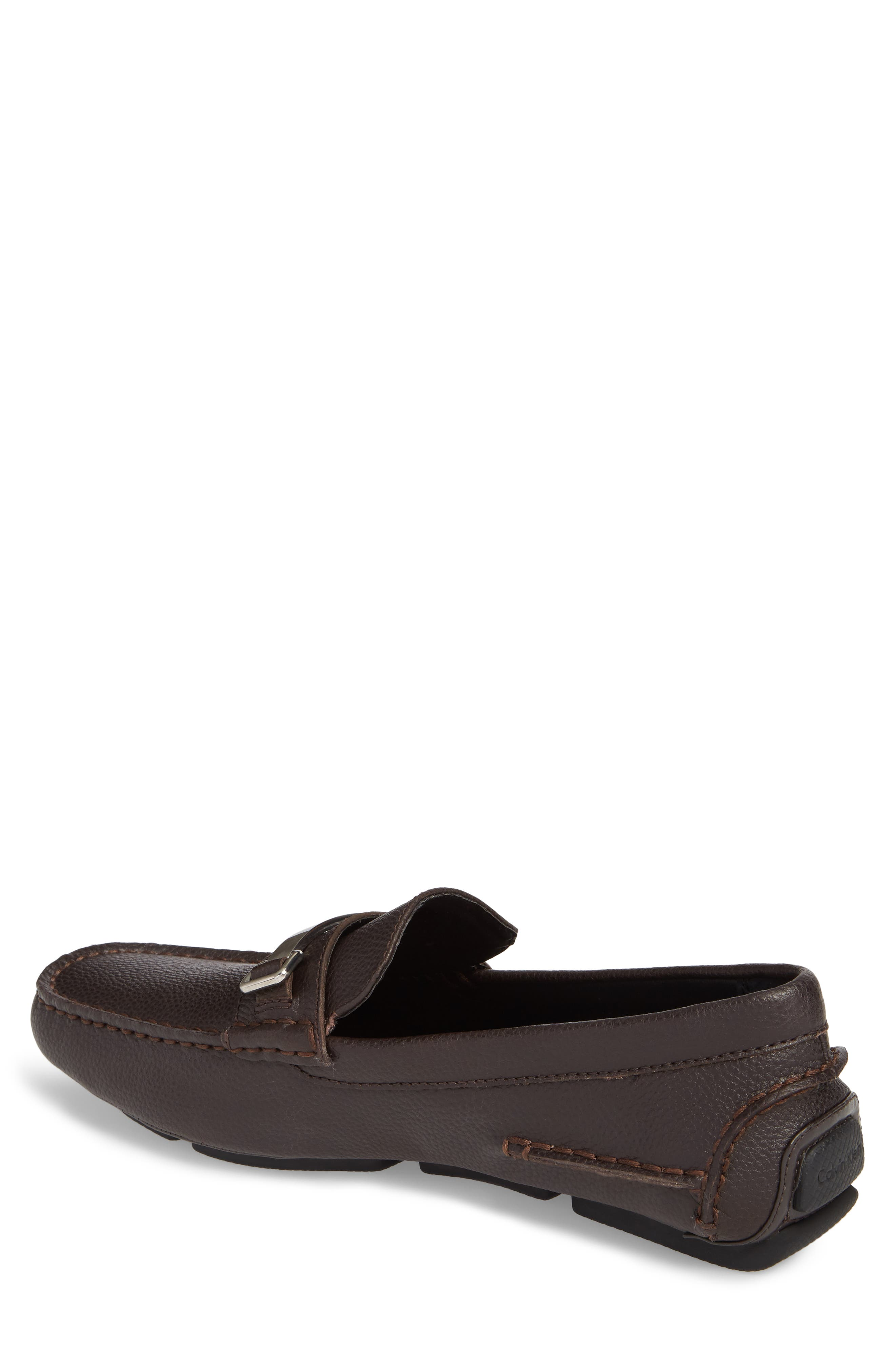 Mikos Driving Shoe,                             Alternate thumbnail 2, color,                             Dark Brown Leather