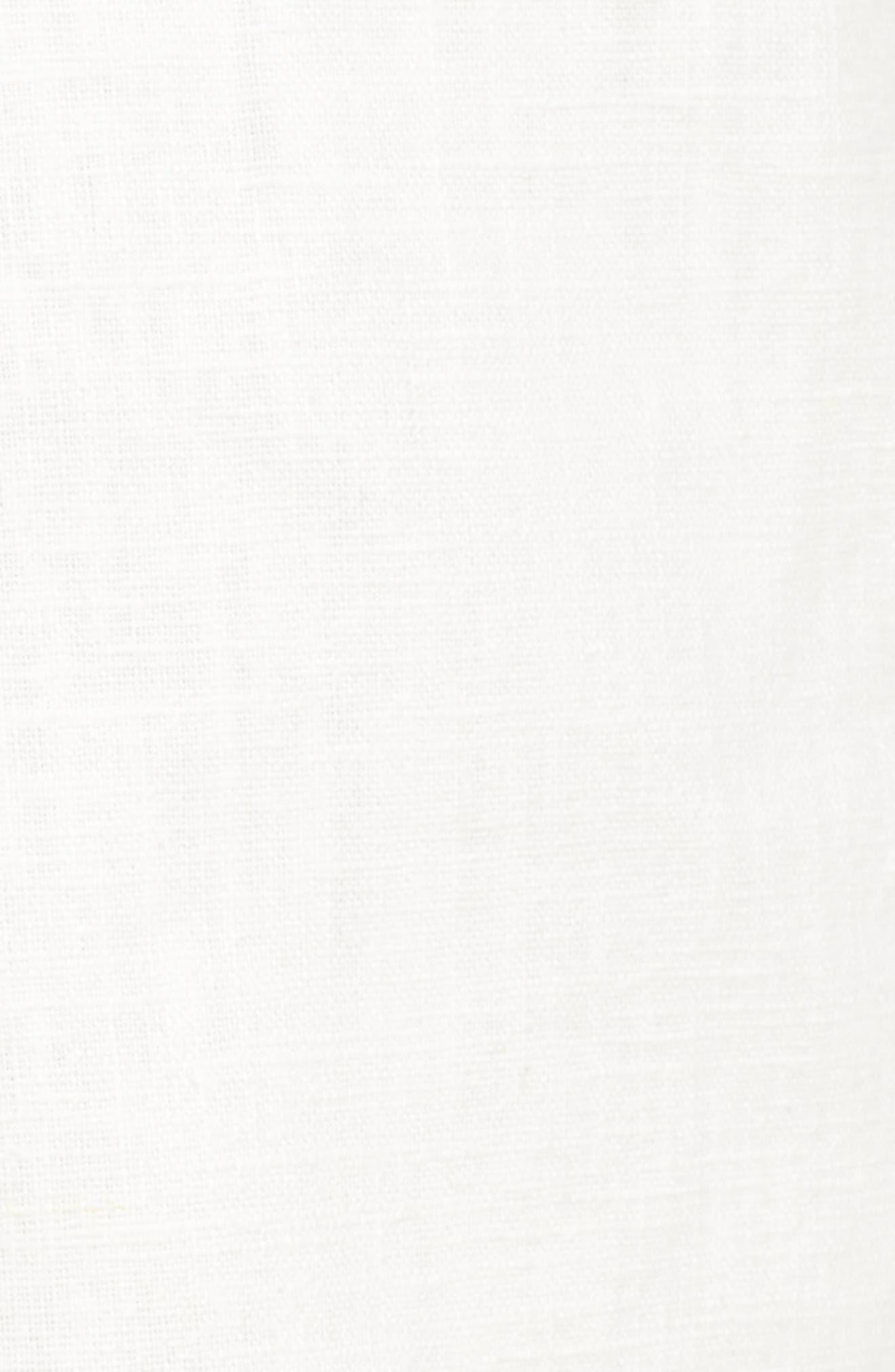 Tie Front Linen & Cotton Skort,                             Alternate thumbnail 6, color,                             White