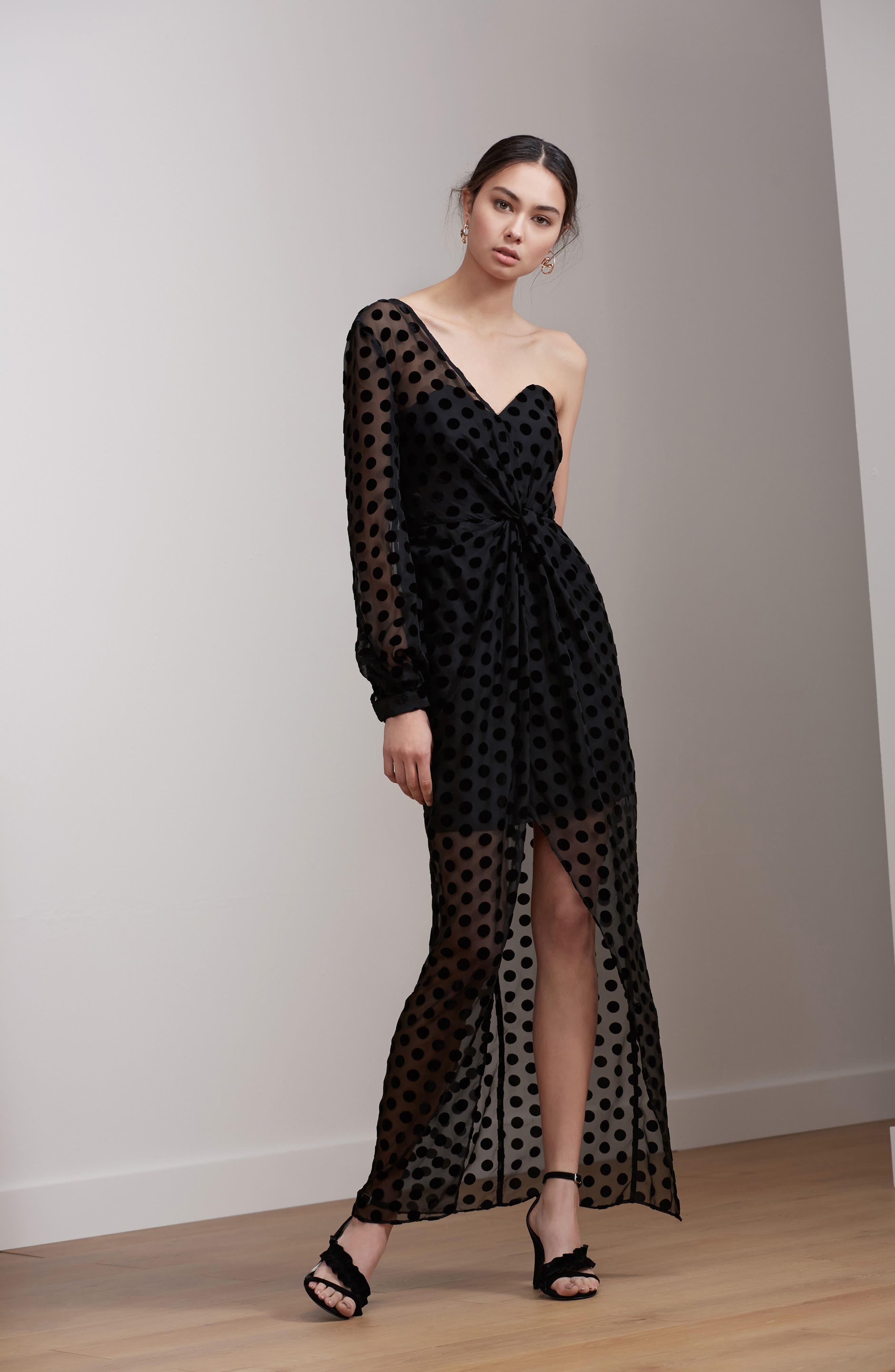 Alternate Image 2  - Keepsake the Label Exhale One Shoulder Polka Dot Dress