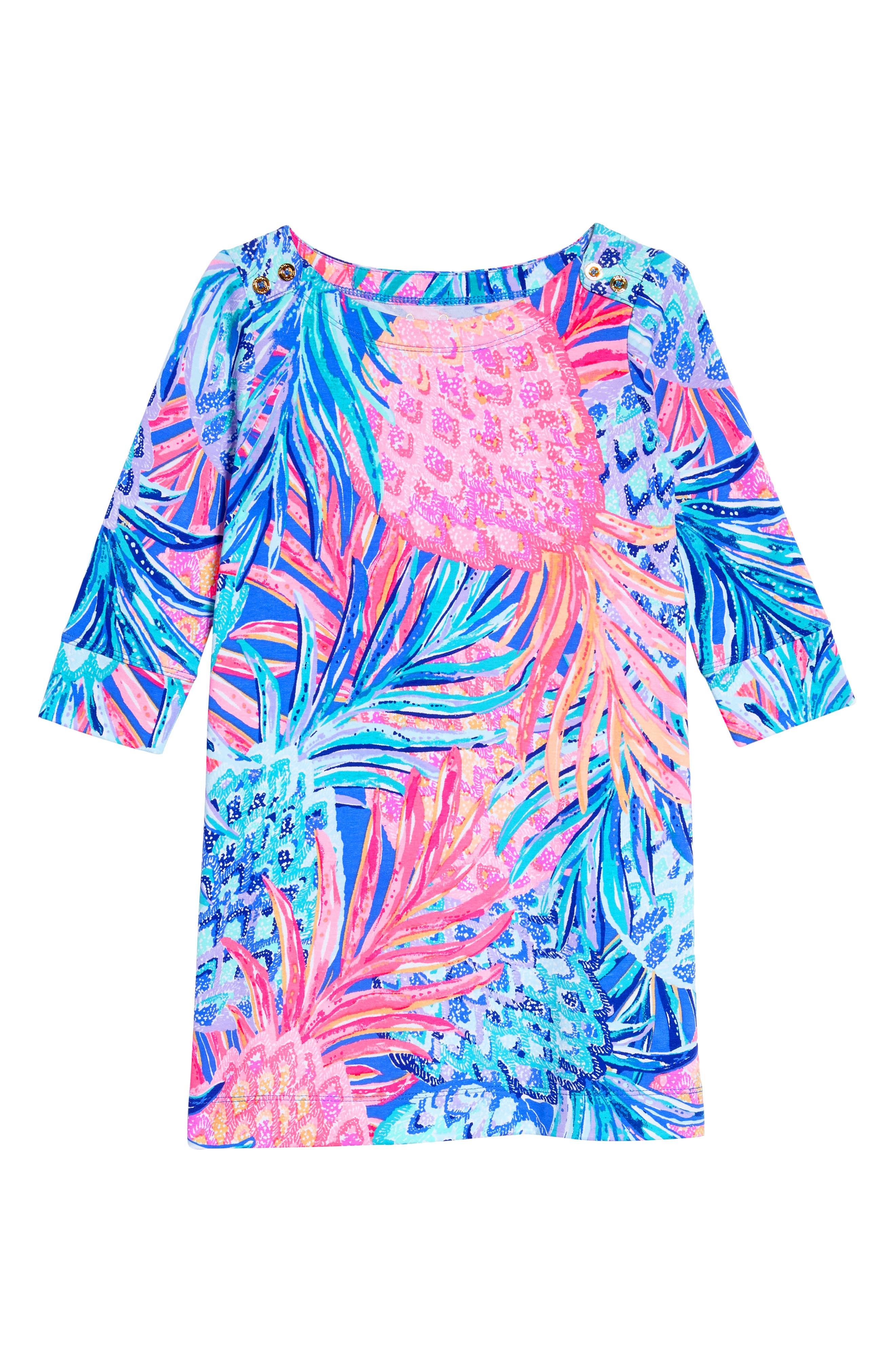 Mini Sophie UPF 50+ Dress,                             Main thumbnail 1, color,                             Multi Gypset Paradise