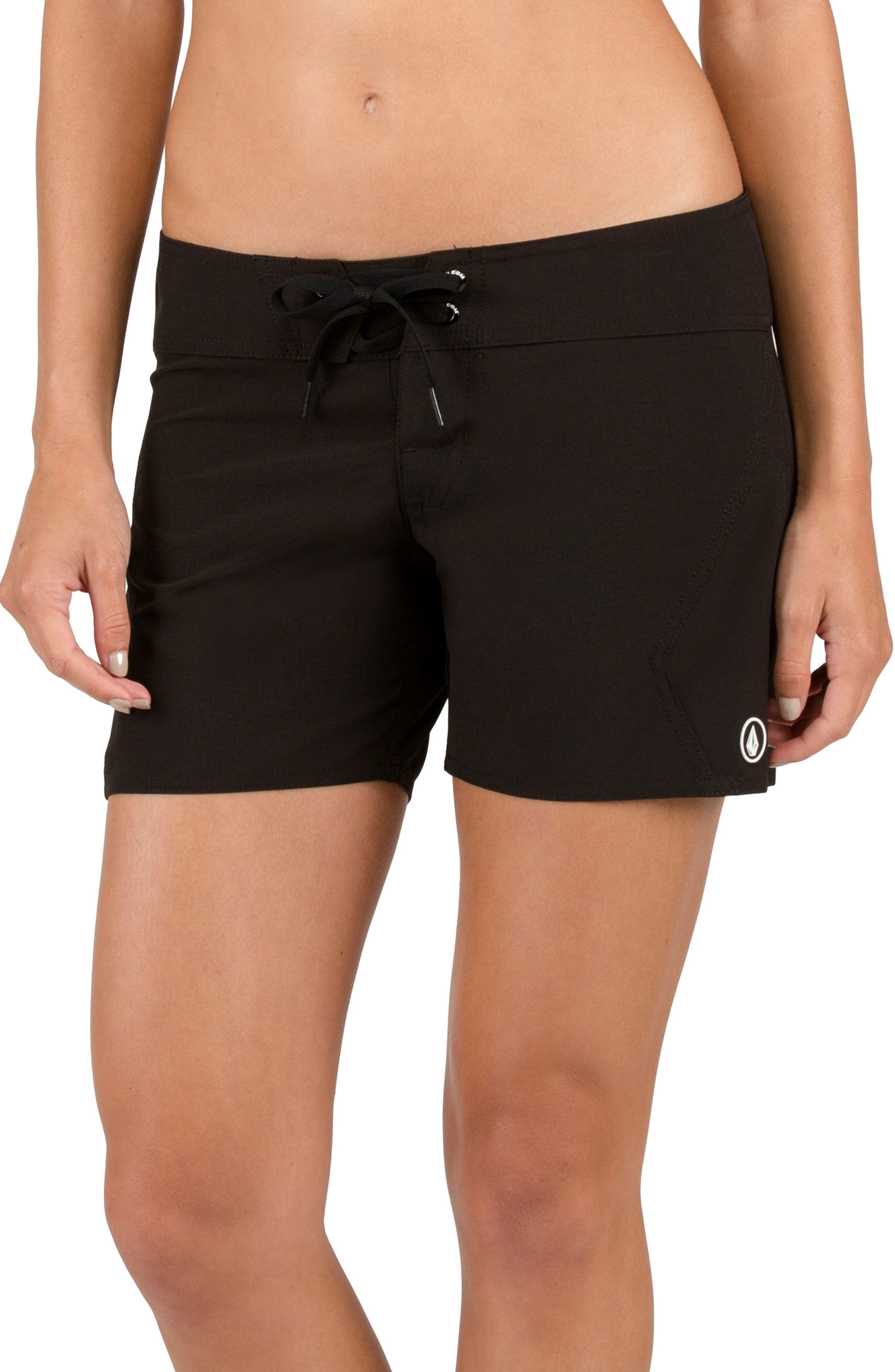 Simply Solid 5-Inch Board Shorts,                         Main,                         color, Black