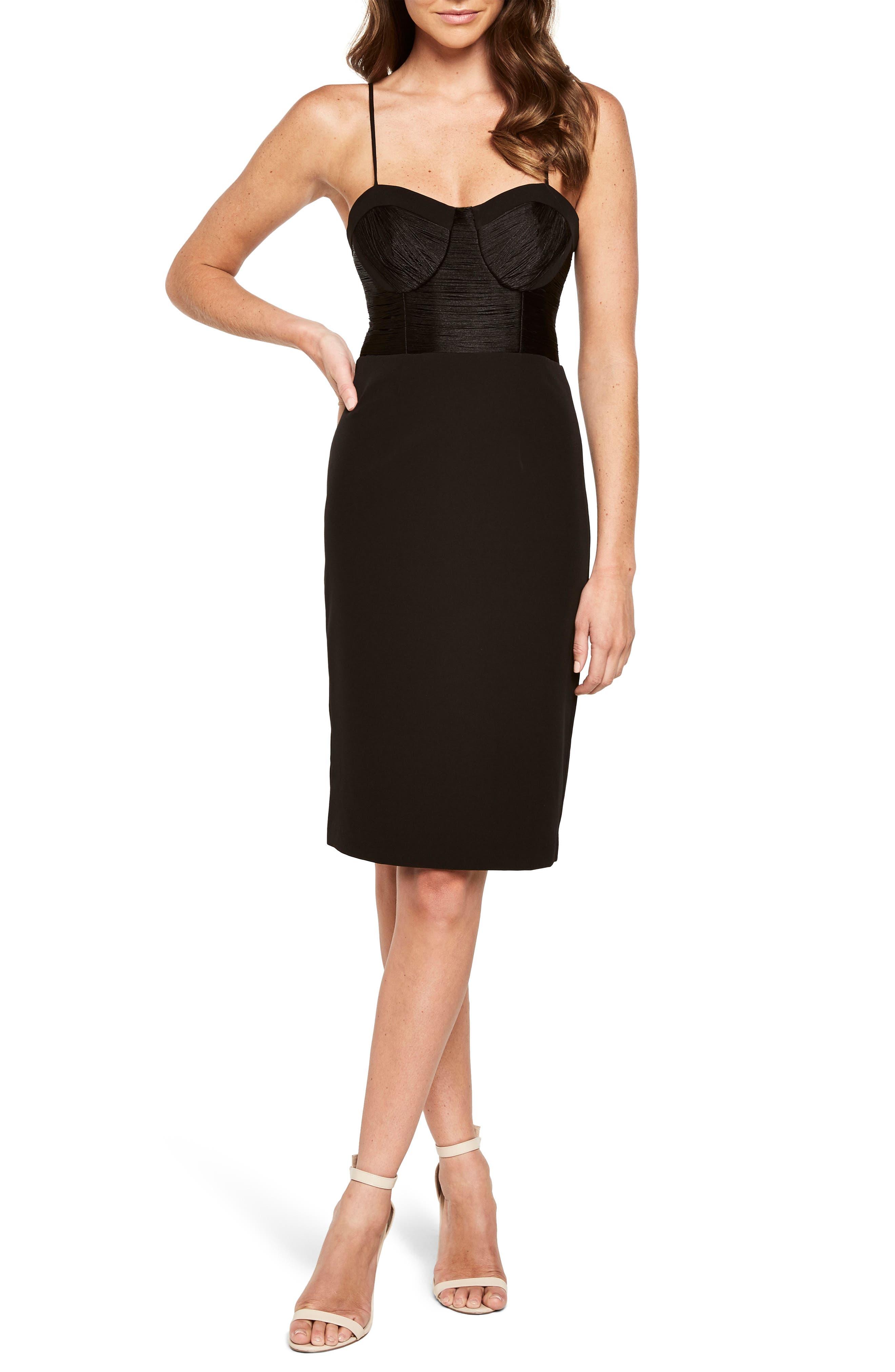 Freida Fringe Sheath Dress,                         Main,                         color, Black