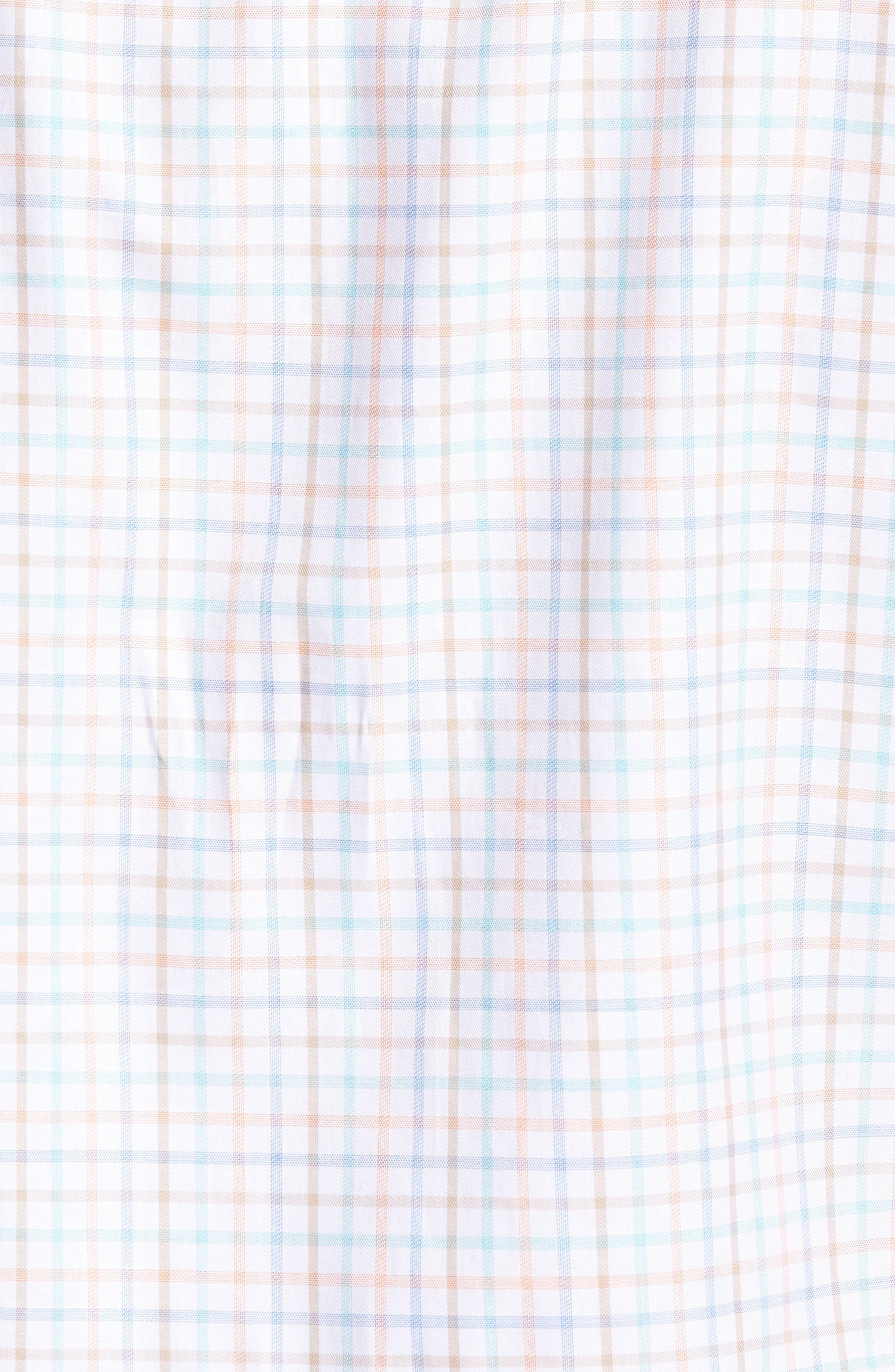 Island Tattersall Sport Shirt,                             Alternate thumbnail 5, color,                             Laguna