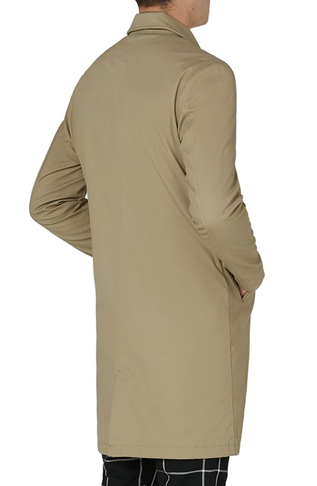 Alternate Image 2  - Topman Mac Single Breasted Topcoat