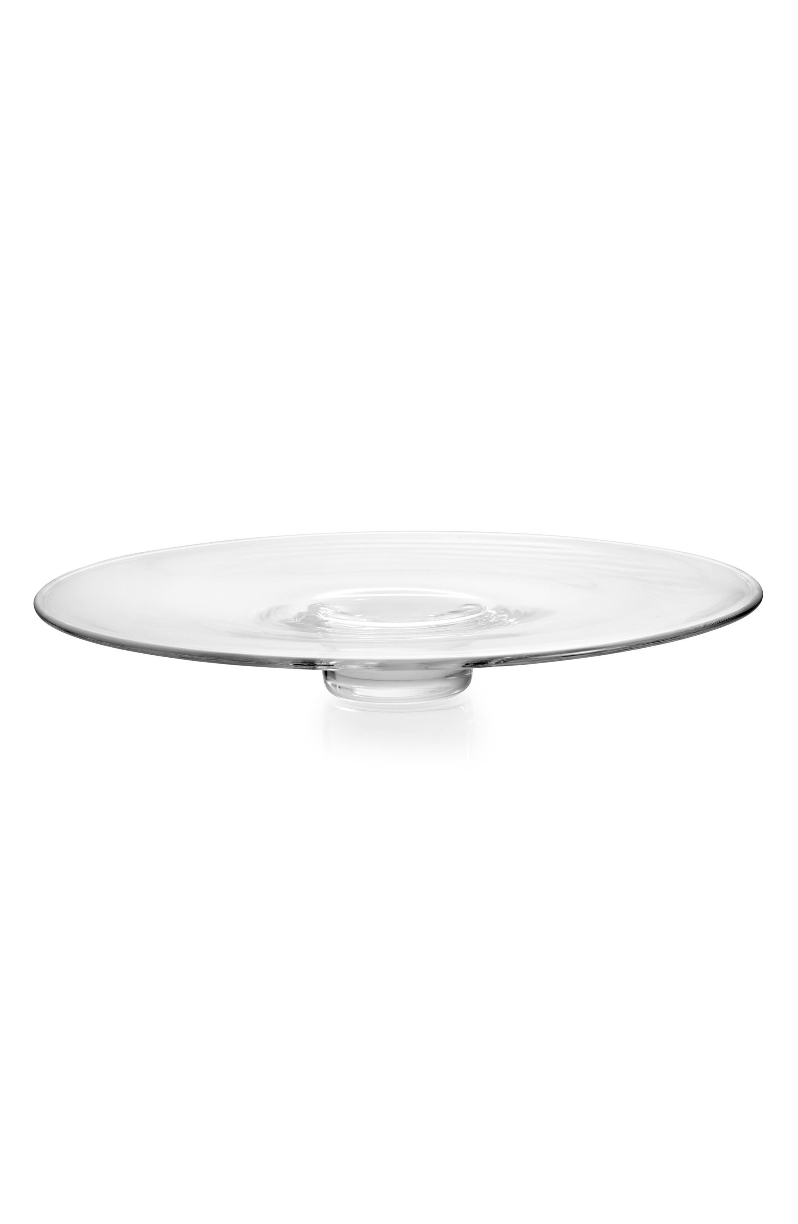 Moderne Round Platter,                             Main thumbnail 1, color,                             Clear