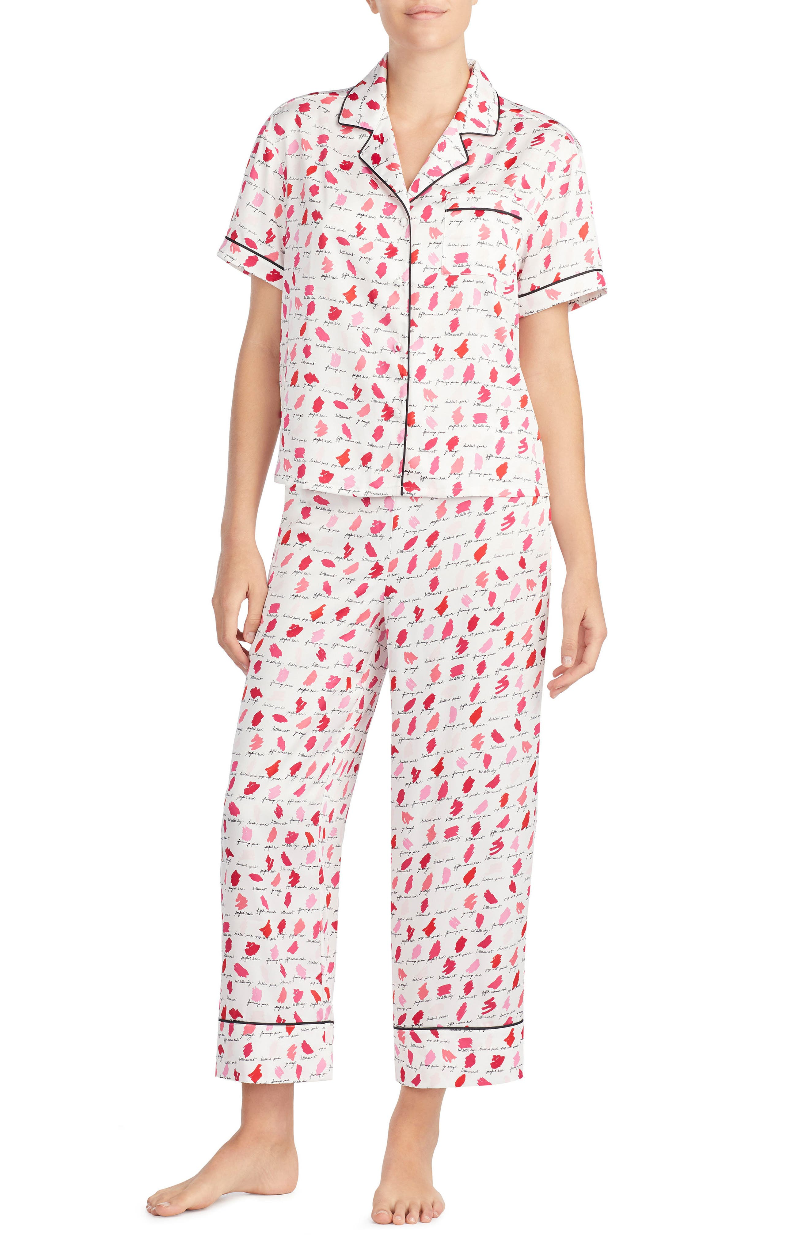 Alternate Image 1 Selected - kate spade new york print pajamas