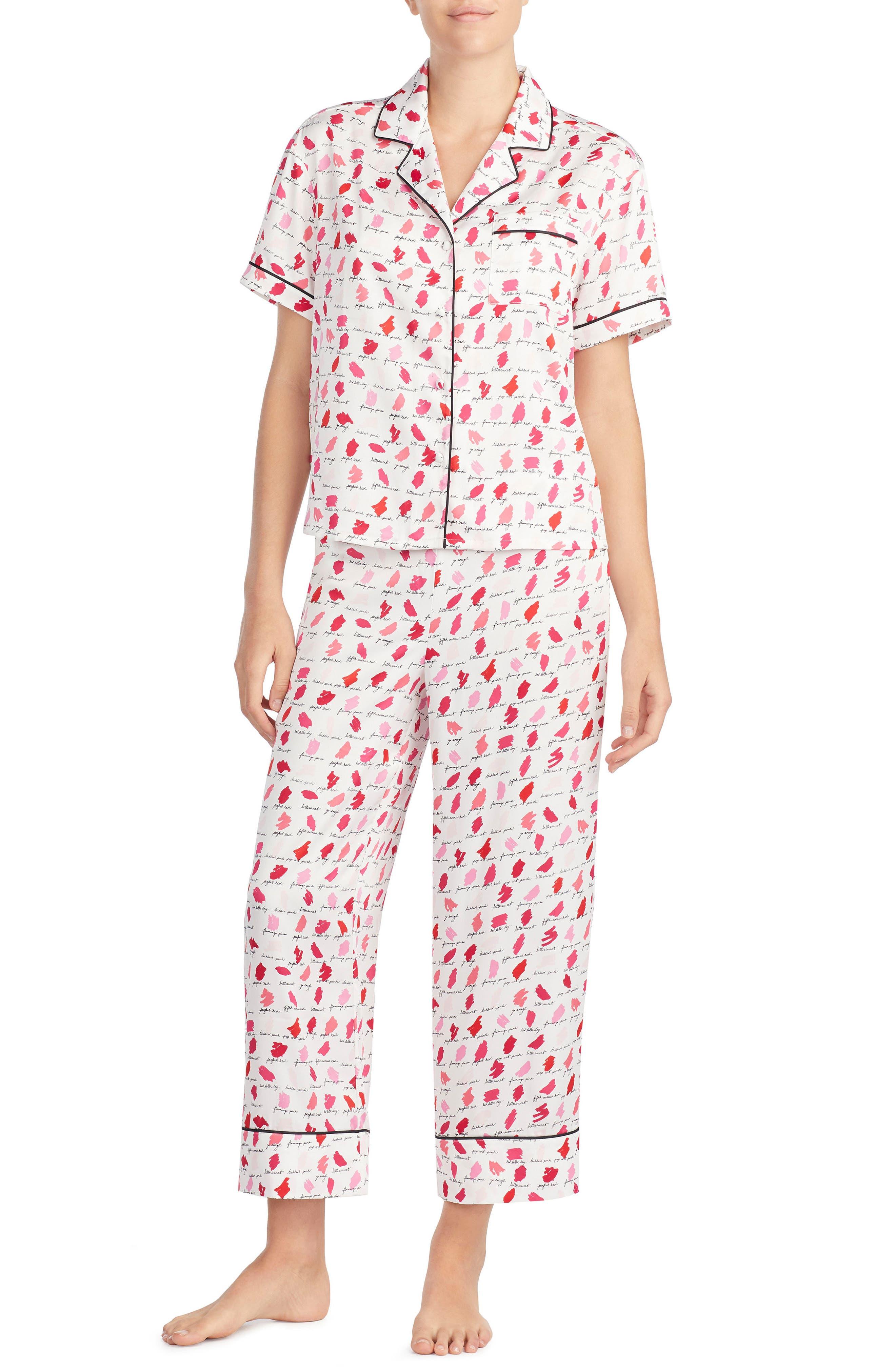 print pajamas,                         Main,                         color, Lipstick