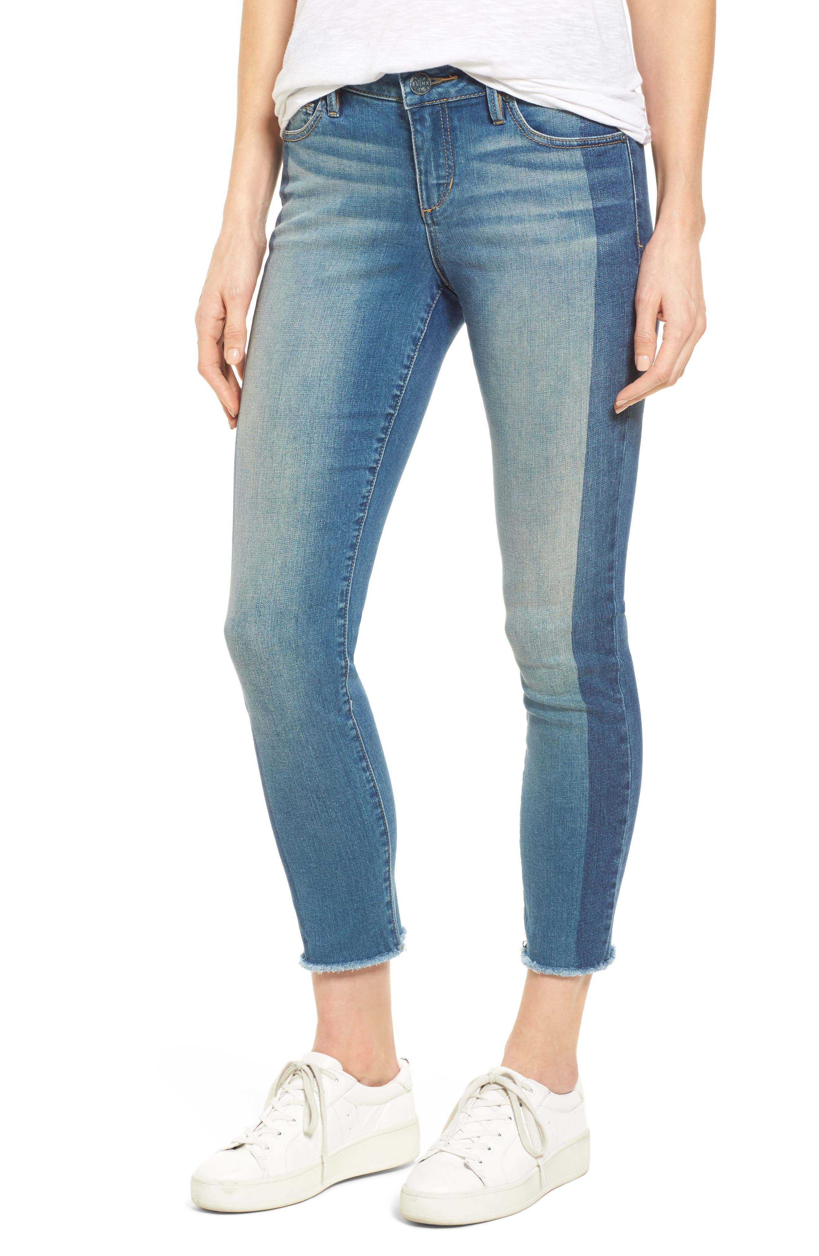 Frayed Hem Ankle Jeans,                             Main thumbnail 1, color,                             Gwen
