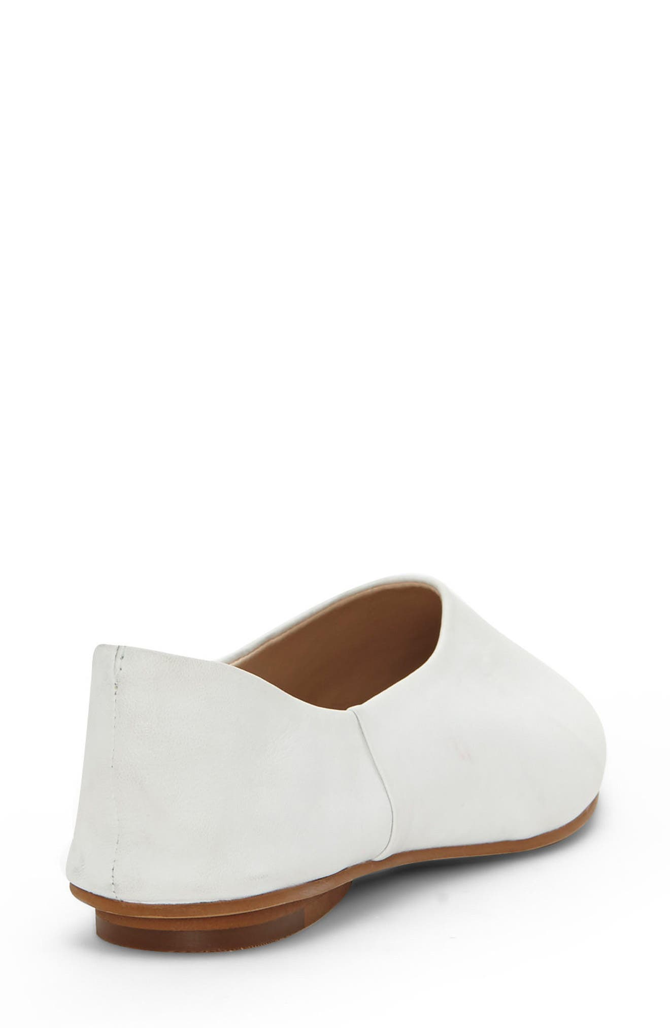 Stanta Pointy Toe Flat,                             Alternate thumbnail 2, color,                             Pure White Leather