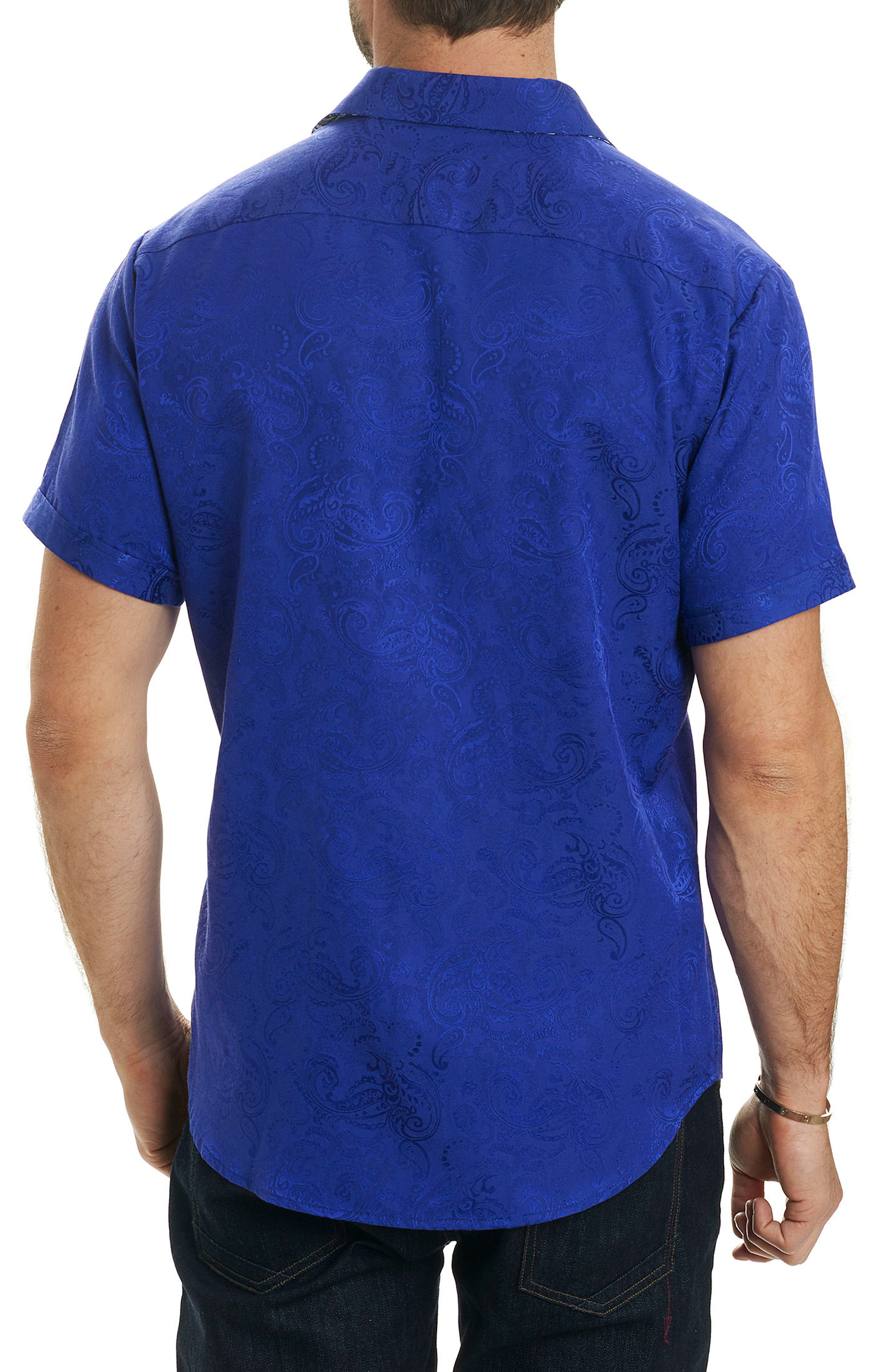 Tonal Paisley Classic Fit Sport Shirt,                             Alternate thumbnail 2, color,                             Purple