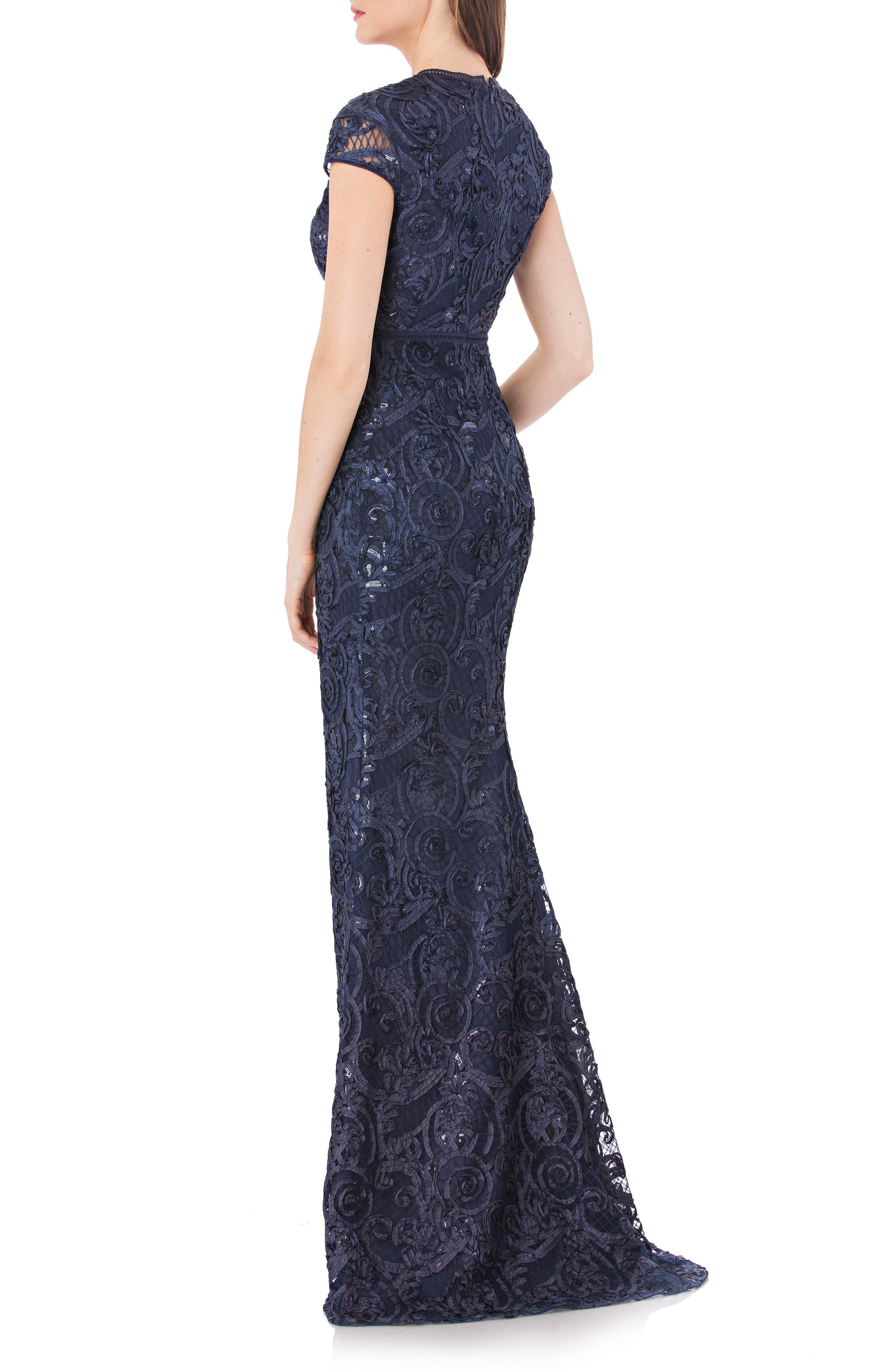 Alternate Image 2  - Carmen Marc Valvo Infusion Embellished Soutache Mermaid Gown
