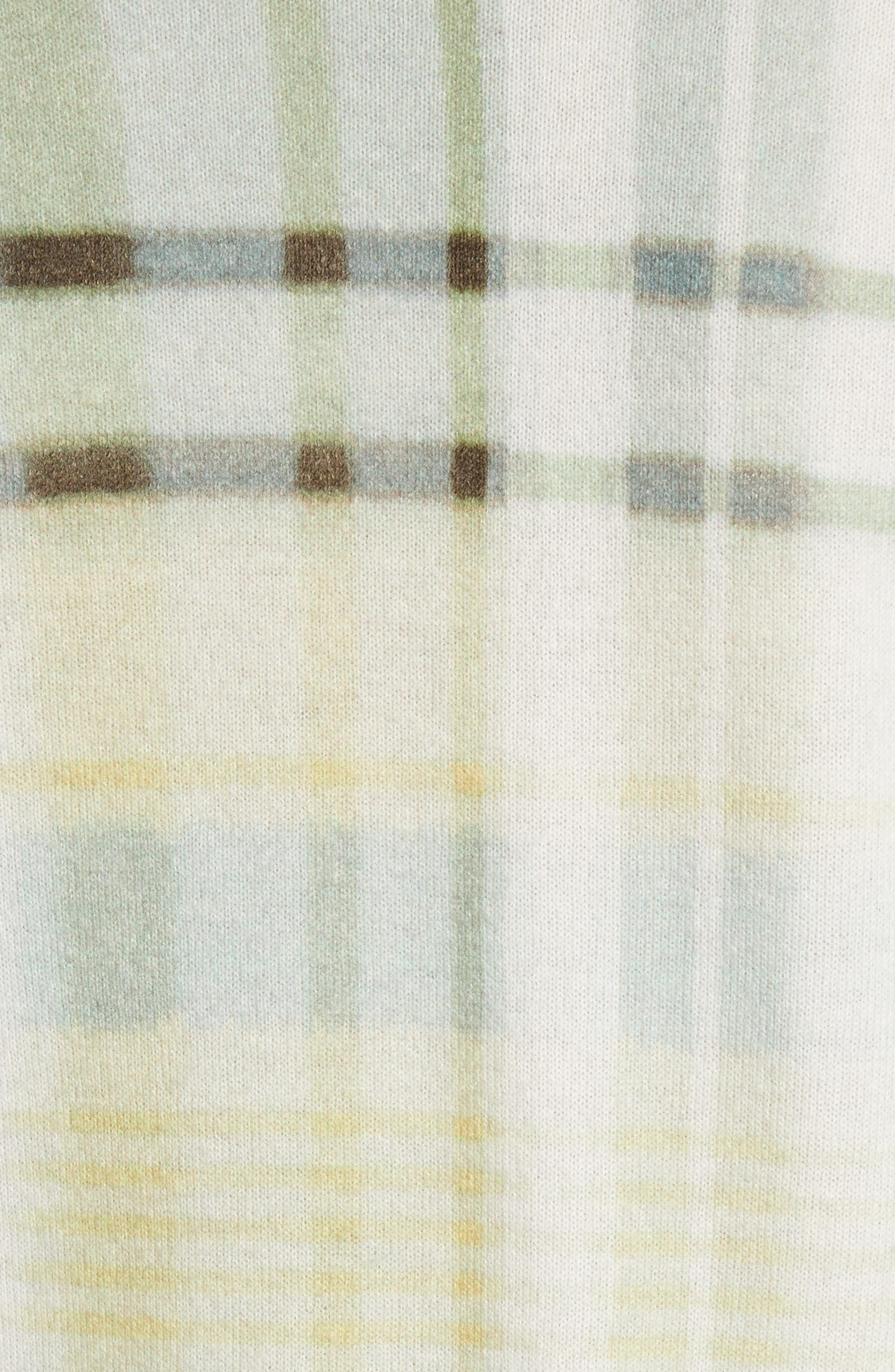 Alternate Image 5  - St. John Collection Plaid Cashmere Sweater