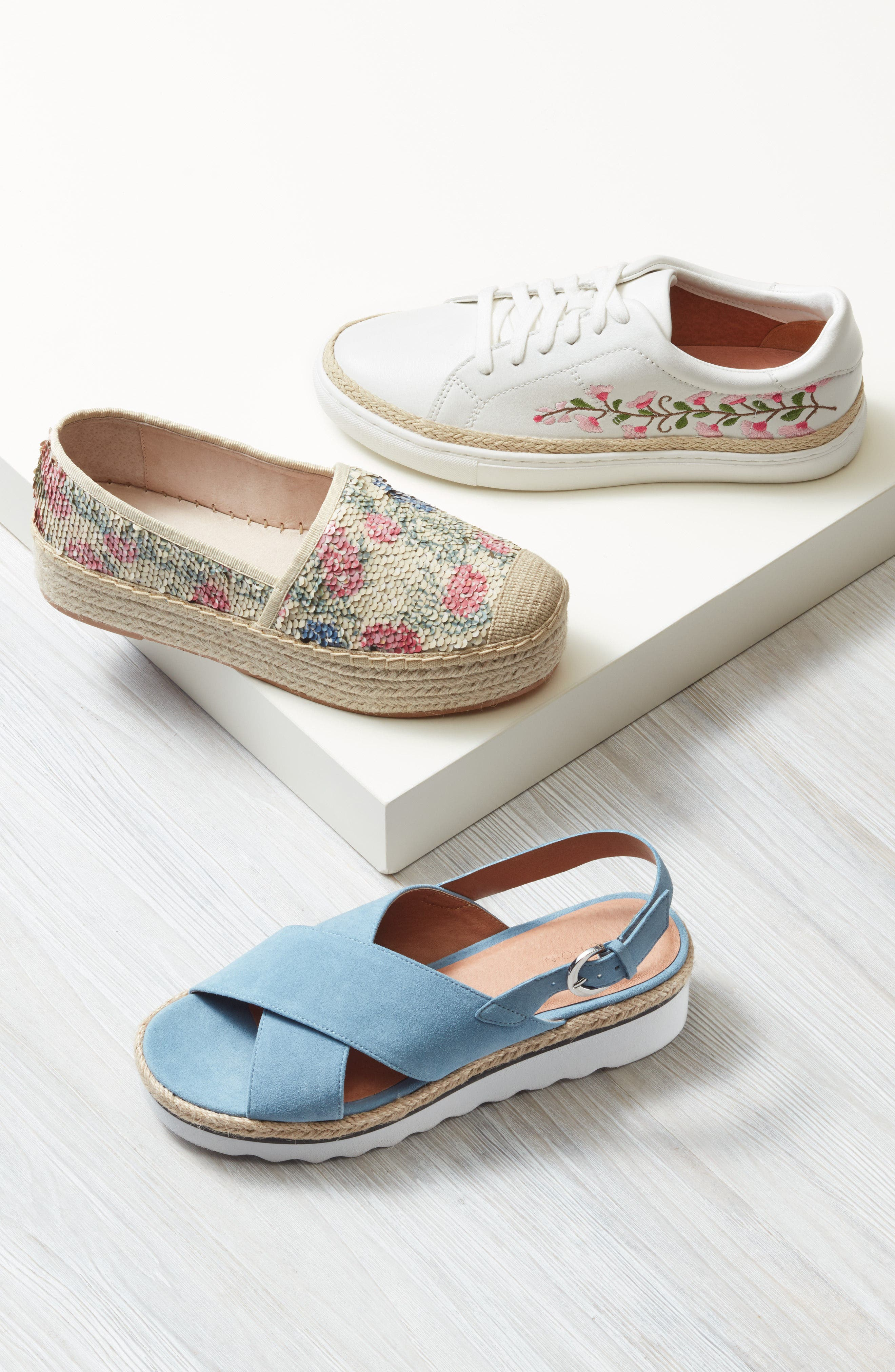 Perry Lea Embroidered Sneaker,                             Alternate thumbnail 7, color,