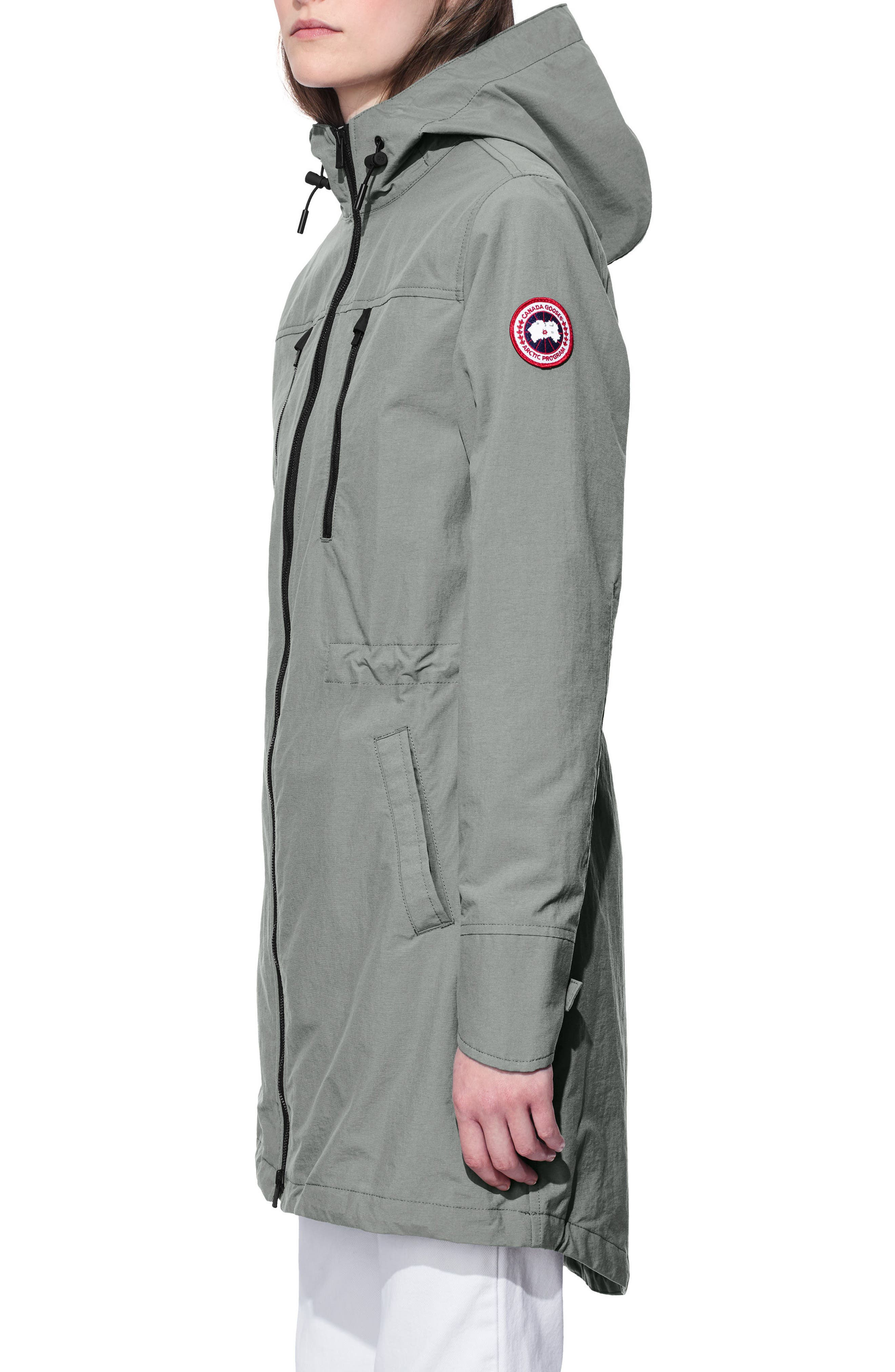 Brossard Hooded Drop Tail Jacket,                             Alternate thumbnail 3, color,                             Permafrost