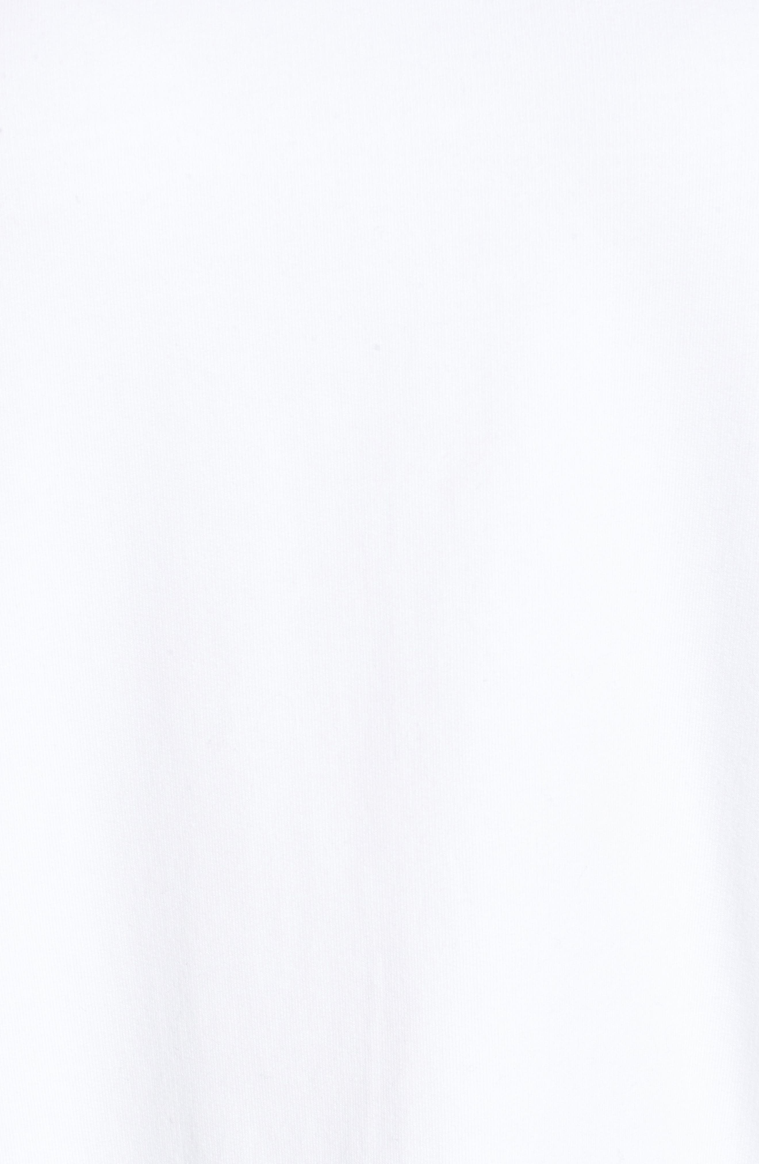 Alternate Image 5  - Halogen® Poplin Ruffle Sleeve Sweatshirt (Regular & Petite)