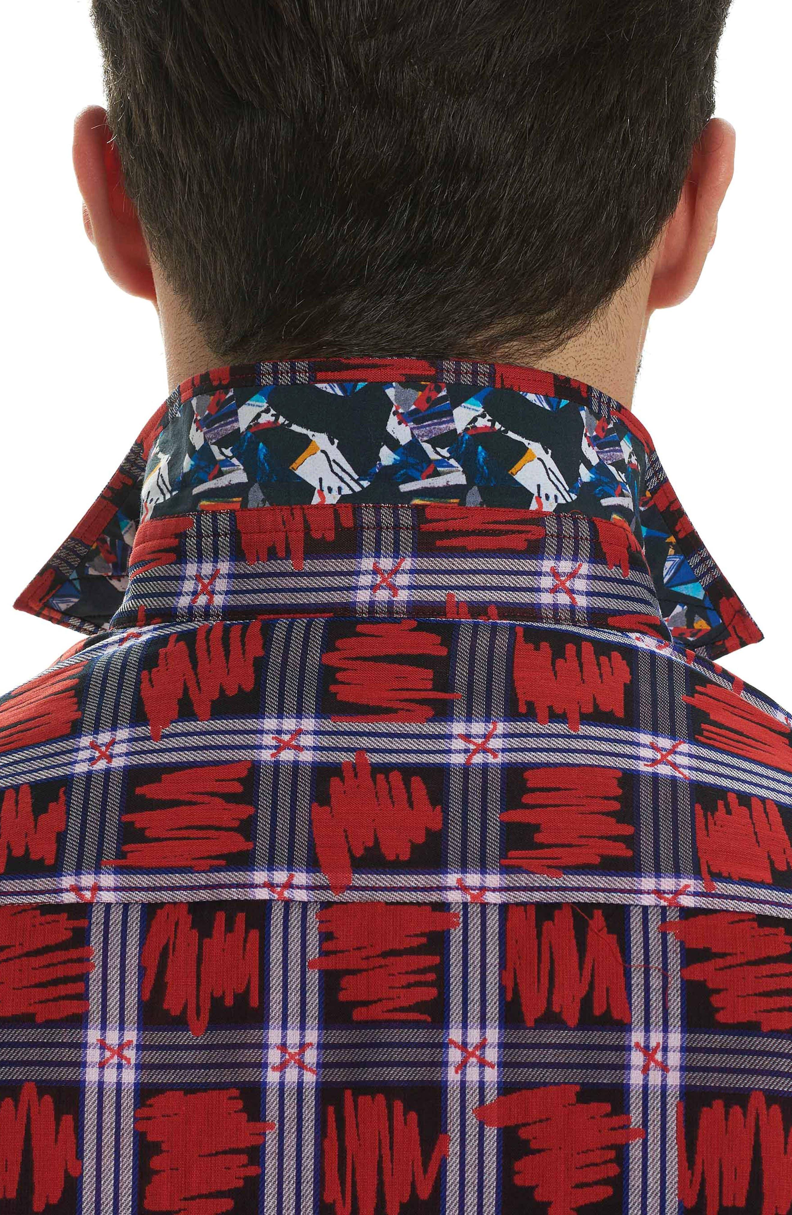 Nassau Classic Fit Sport Shirt,                             Alternate thumbnail 4, color,                             Red