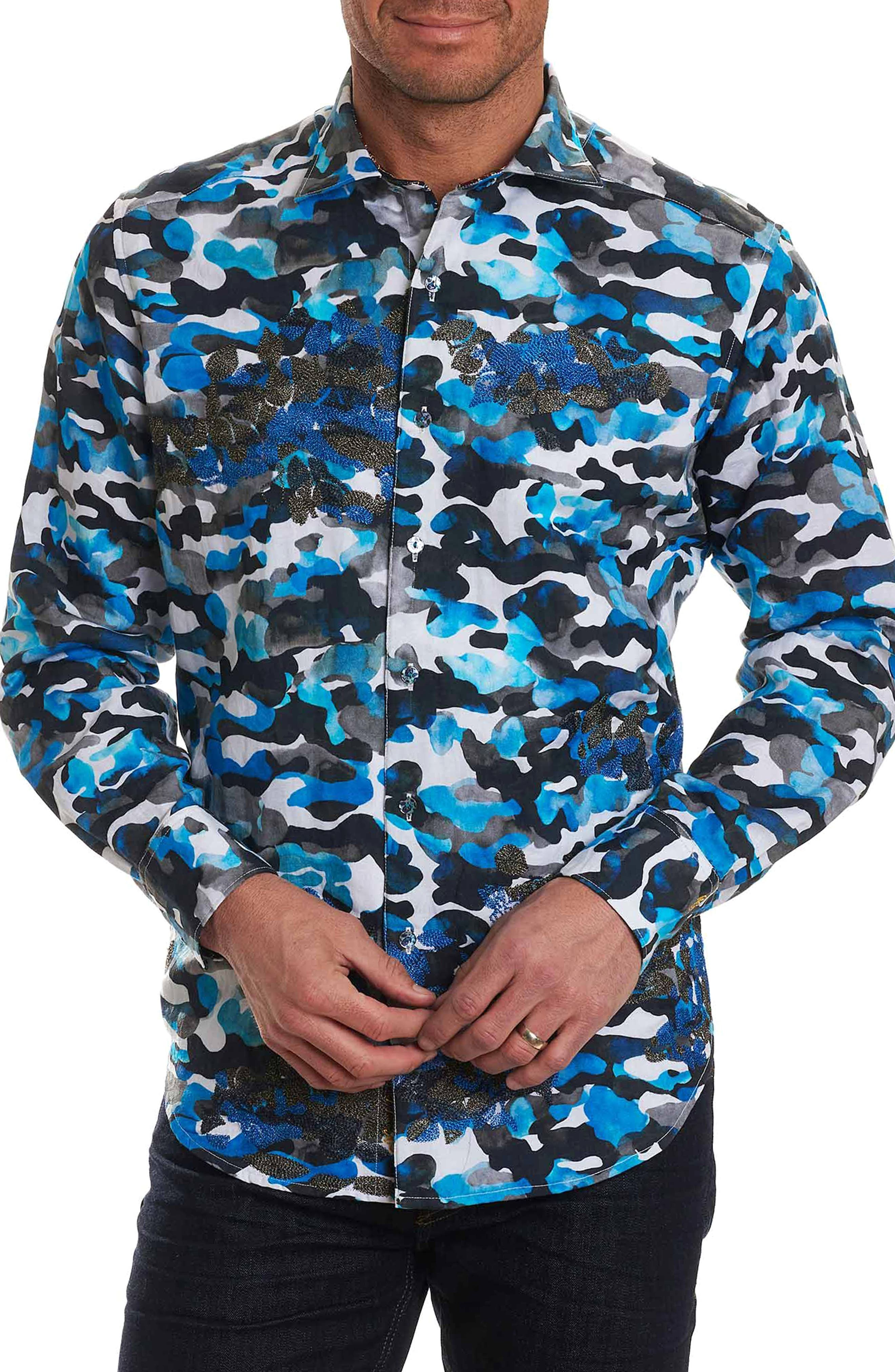 Alternate Image 1 Selected - Robert Graham Blue De Skies Limited Edition Classic Fit Sport Shirt