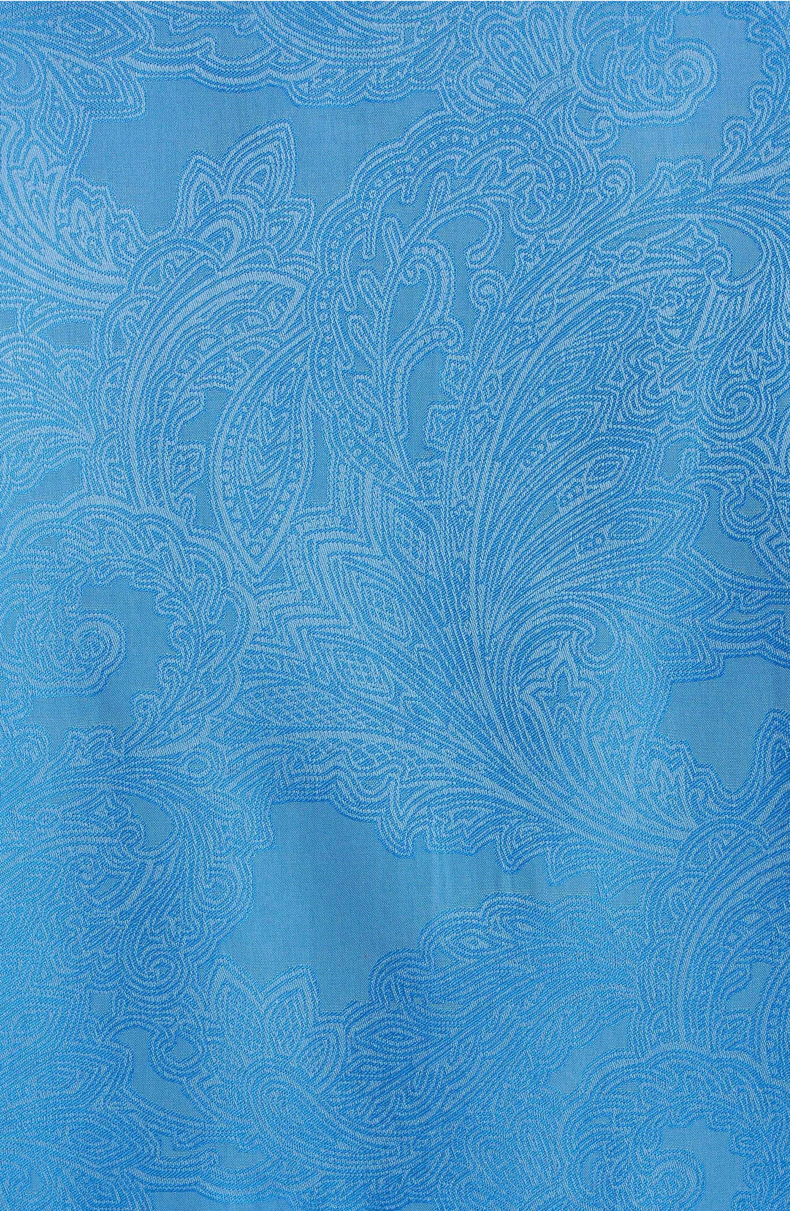 Rosendale Classic Fit Jacquard Sport Shirt,                             Alternate thumbnail 7, color,                             Light Blue