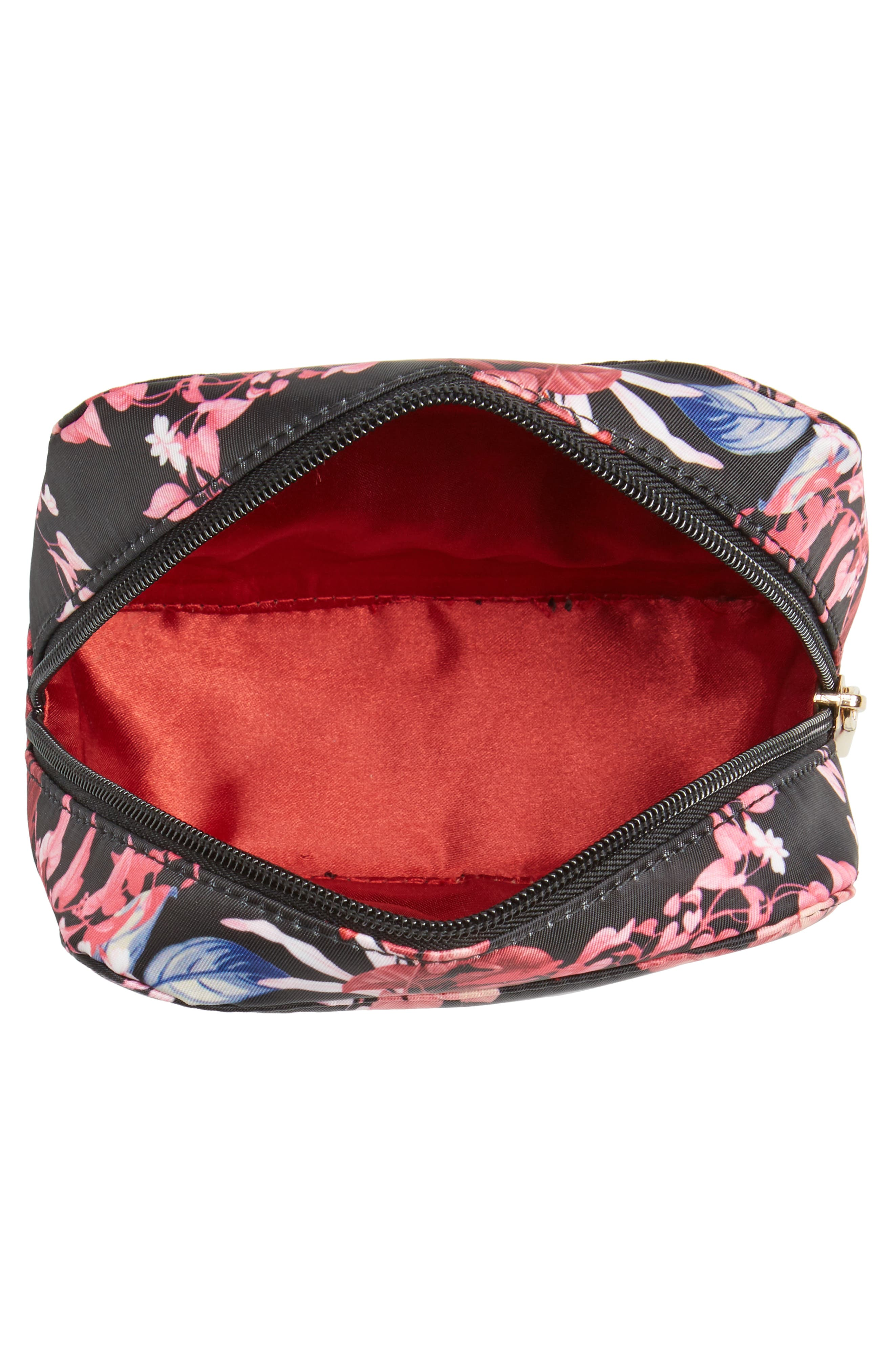 Up in the Air Cosmetics Case & Eye Mask,                             Alternate thumbnail 3, color,                             Fall Garden Part
