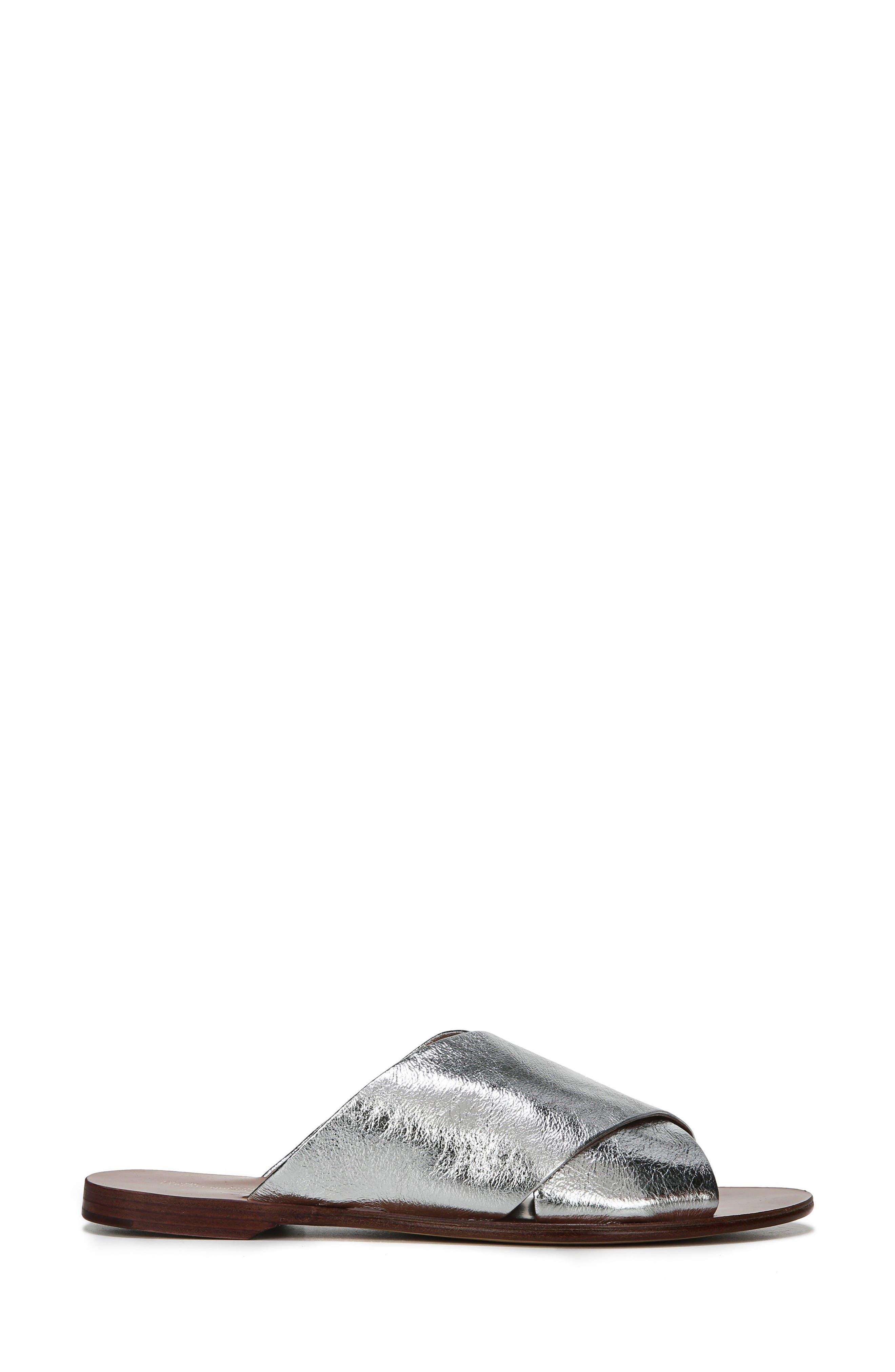 Bailie Sandal,                             Alternate thumbnail 4, color,                             Silver Leather