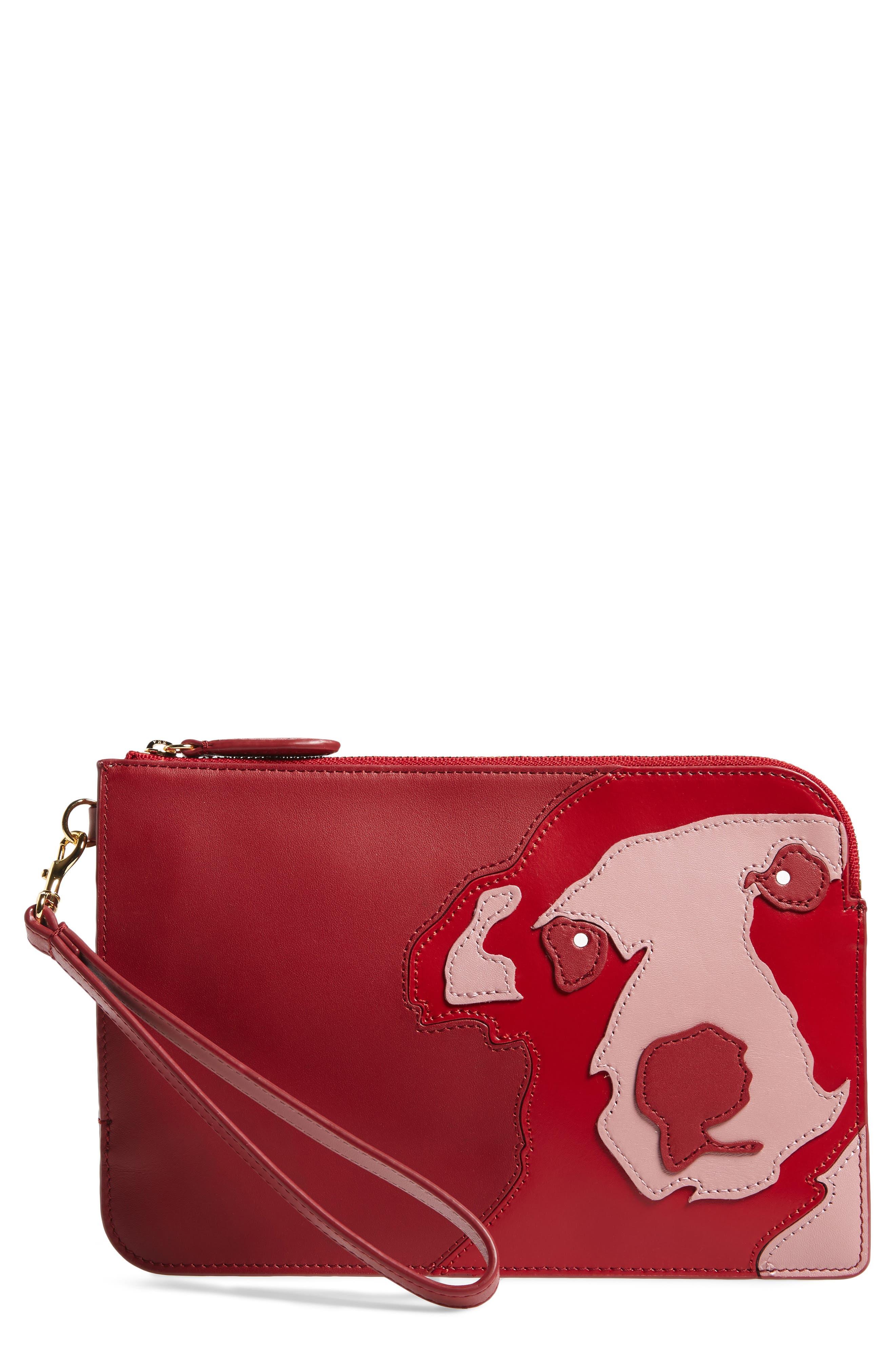 Diane von Furstenberg Medium Leather Zip Pouch